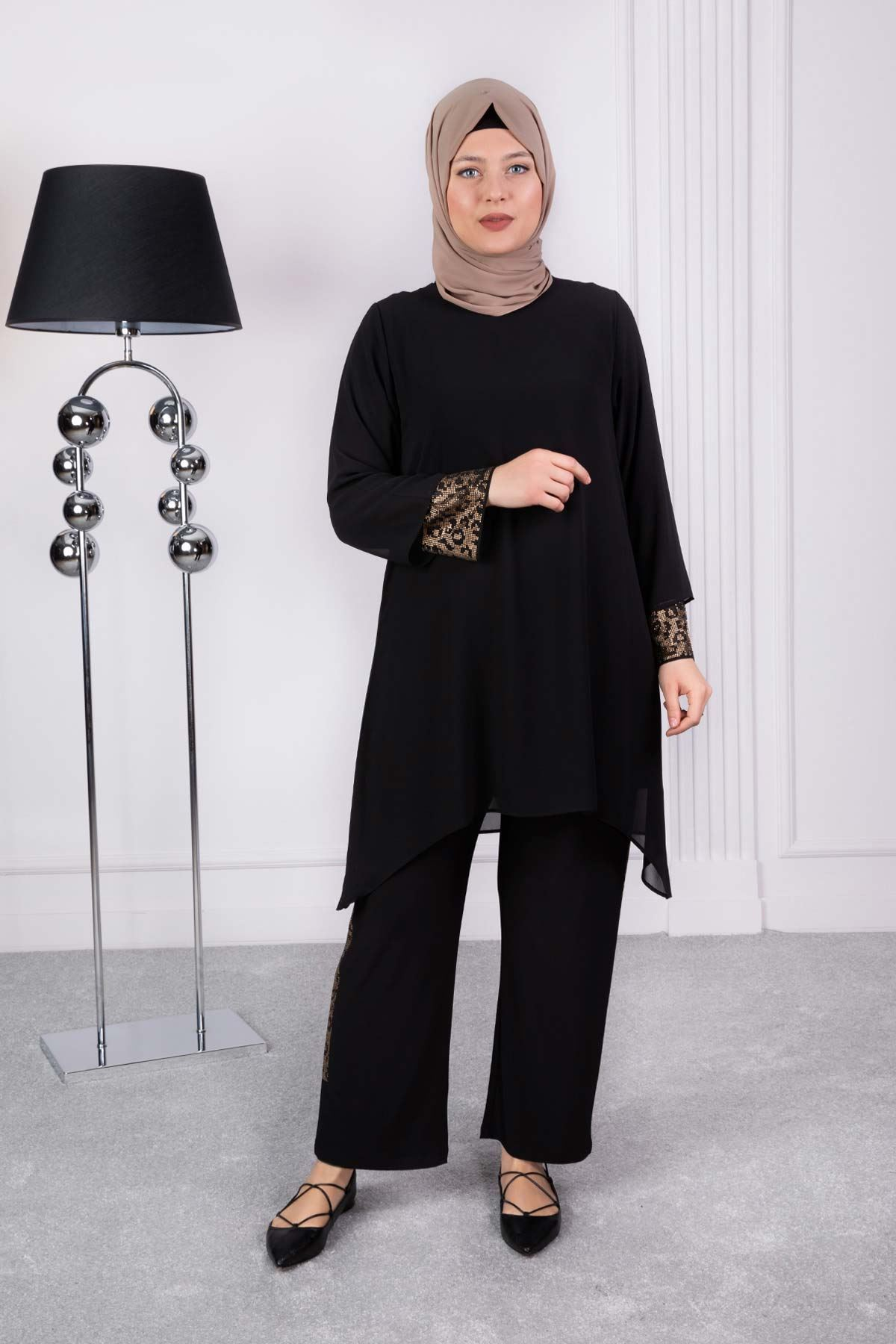 Katra Pantolonlu Takım Siyah 63001