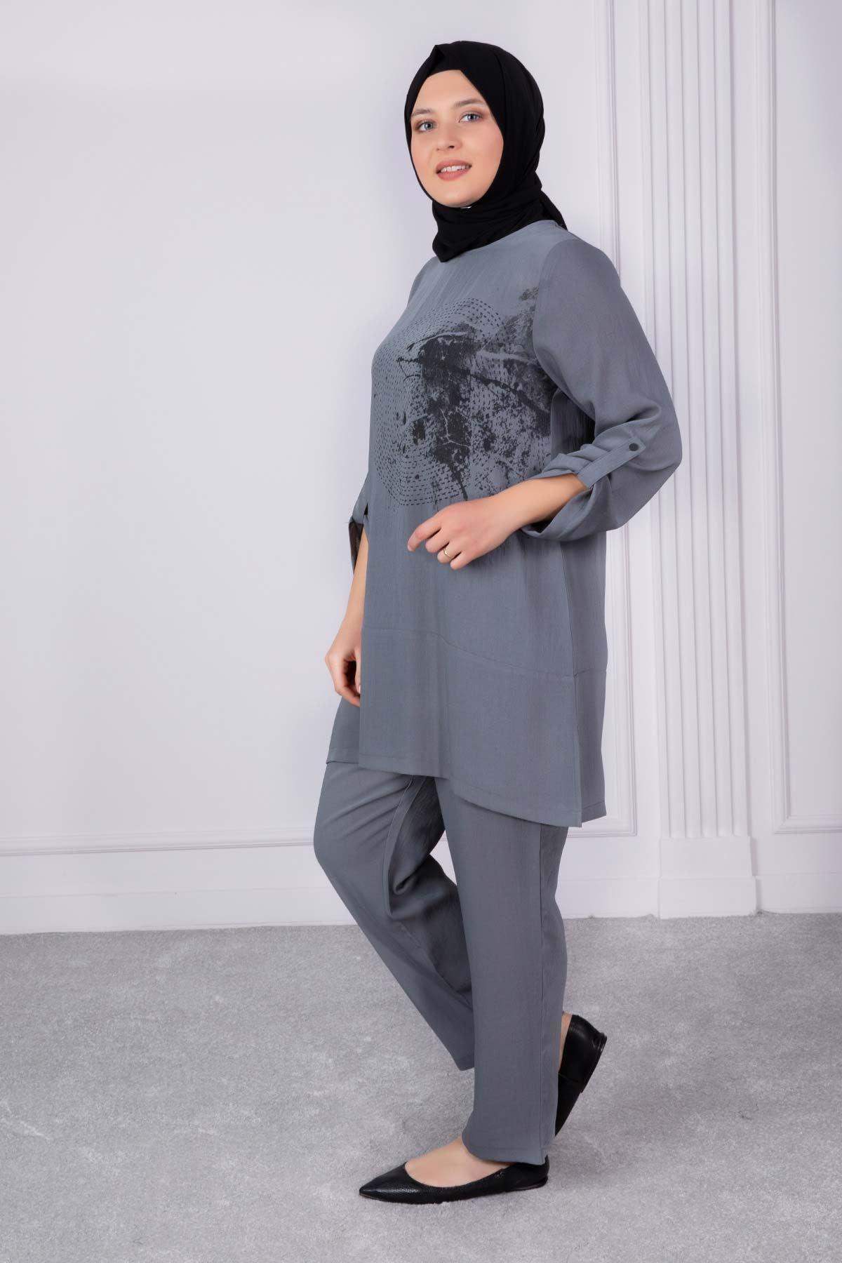 Şita Pantolonlu Takım Gri 35006