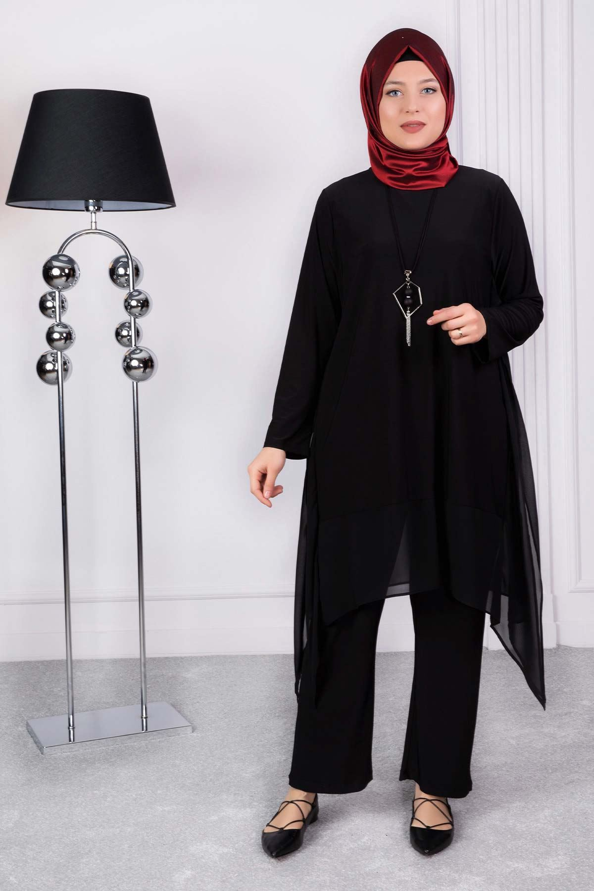Karen Pantolonlu Takım Siyah 60003