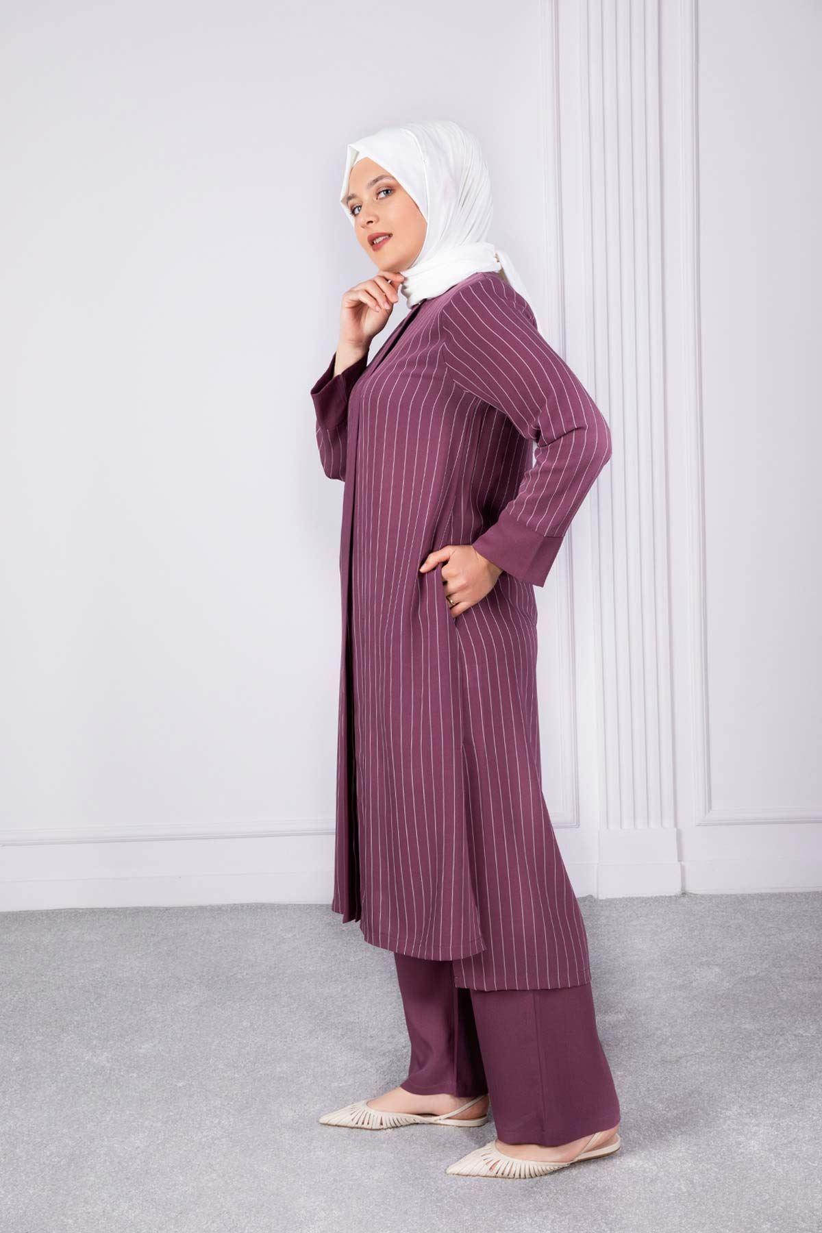 Nehar Pantolonlu Takım Gül Kurusu 38002