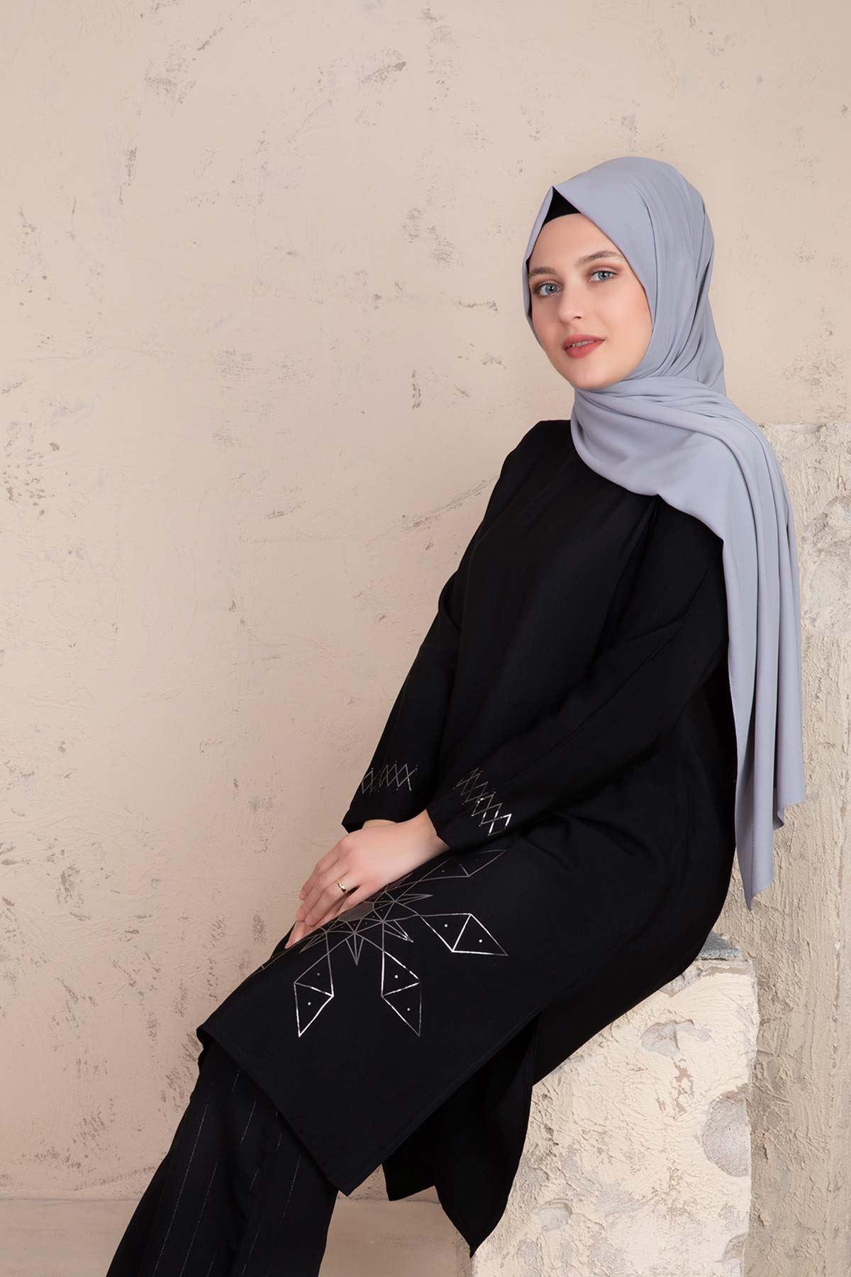 Pera Pantolonlu Takım Siyah 38001