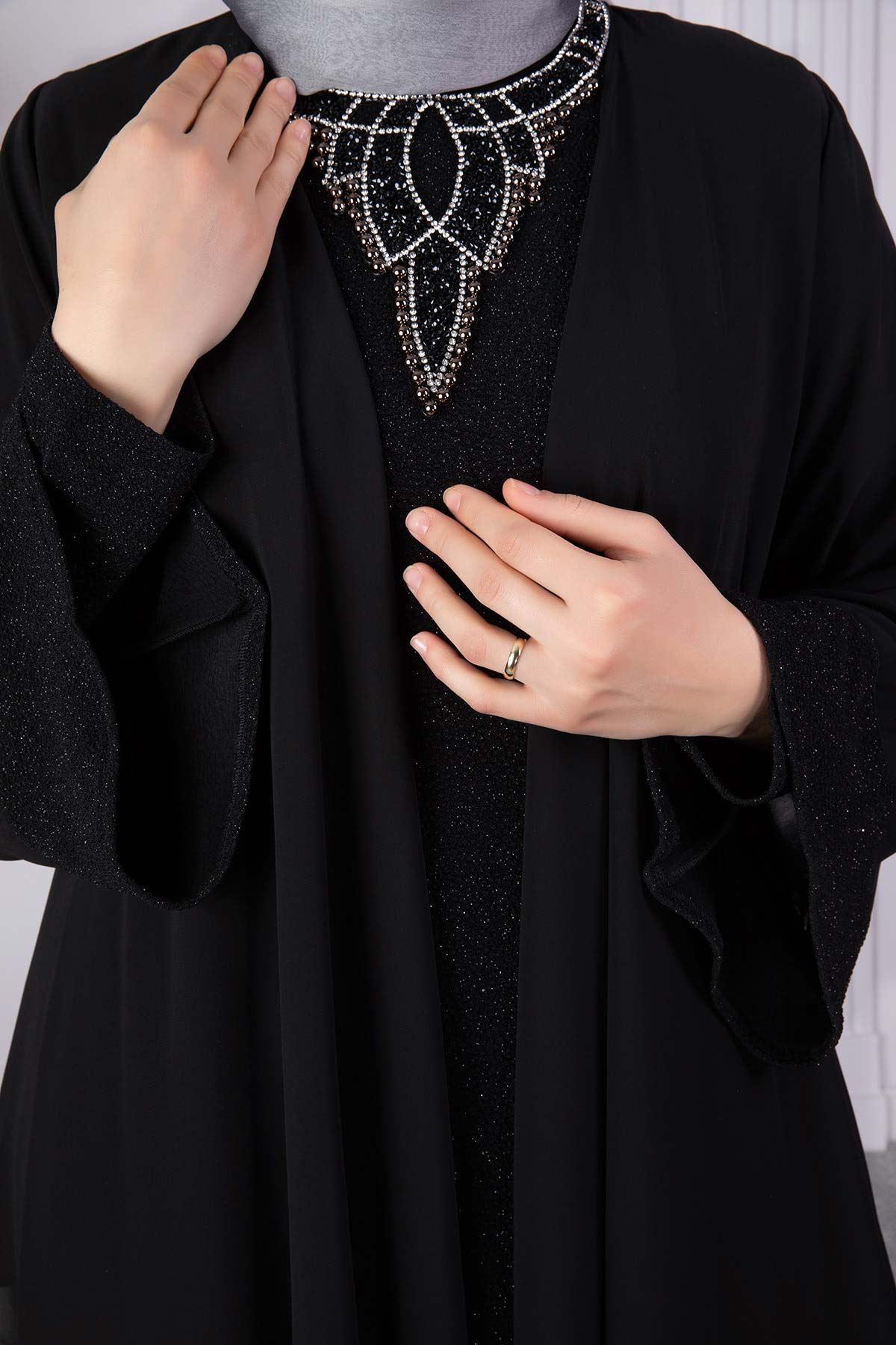 İmran Abiye Elbise Siyah 50008