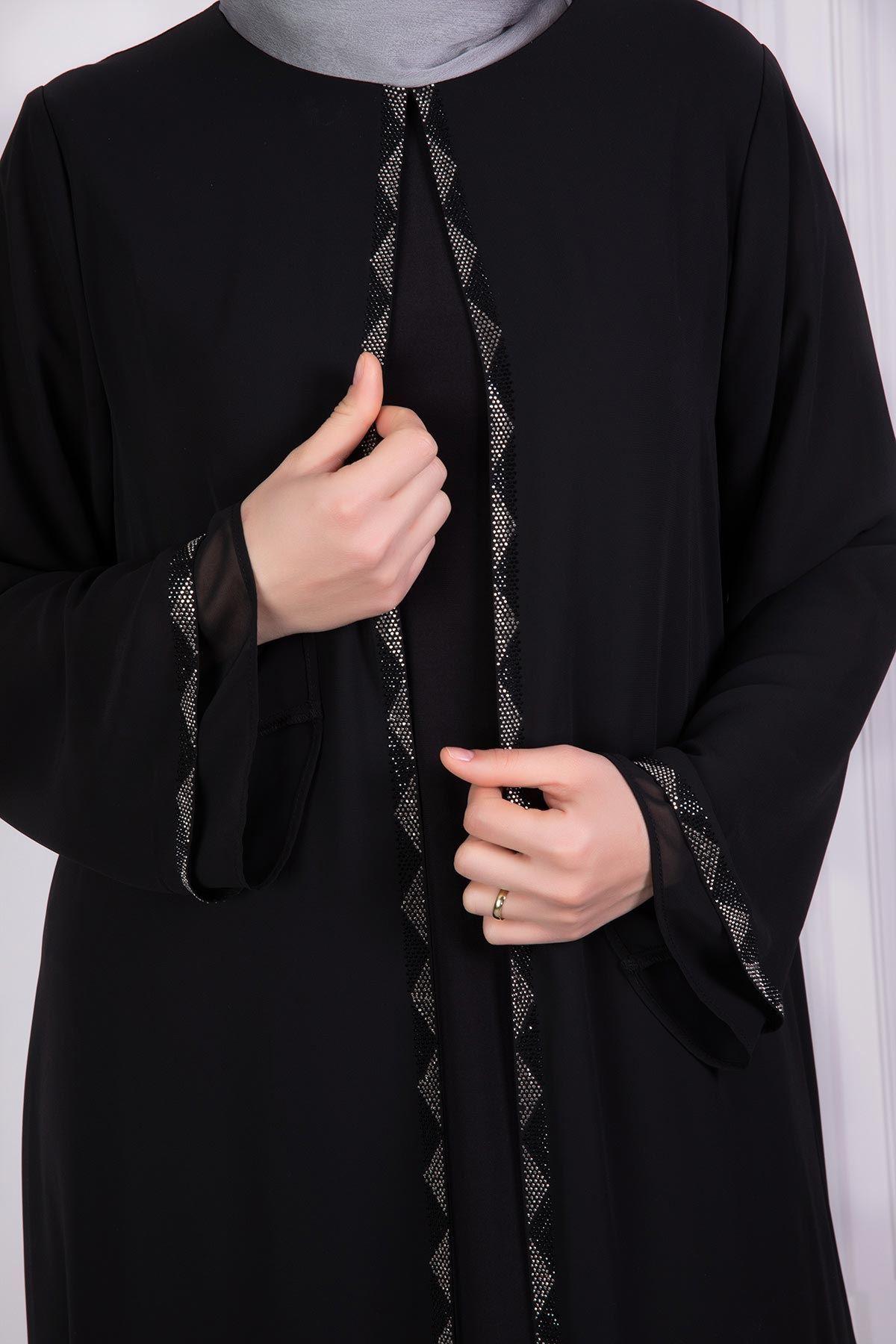 Libas Abiye Elbise Siyah 53007