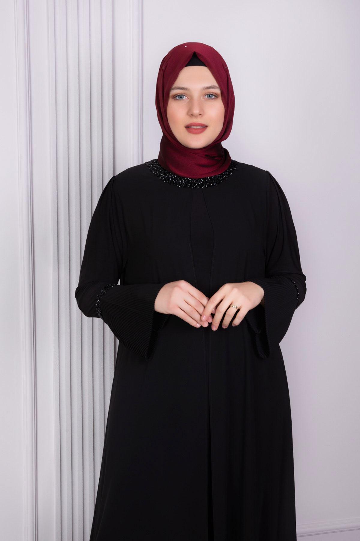 Nare Abiye Elbise Siyah 50001