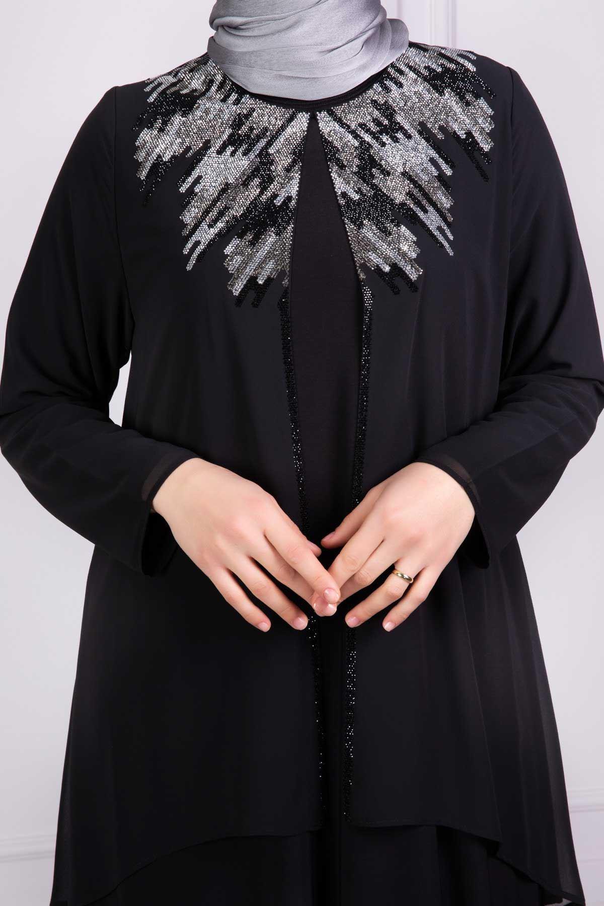 Henna Abiye Elbise Siyah 53004