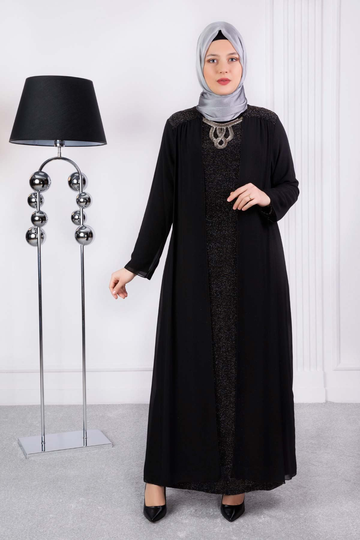 Afraz Abiye Elbise Gold 50003