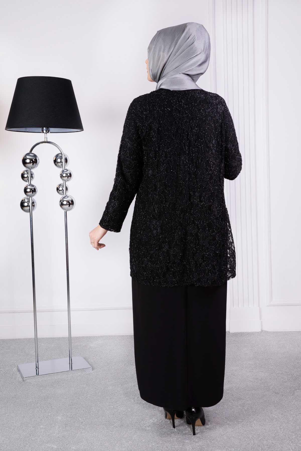 Ferimah Abiye Elbise Siyah 50002