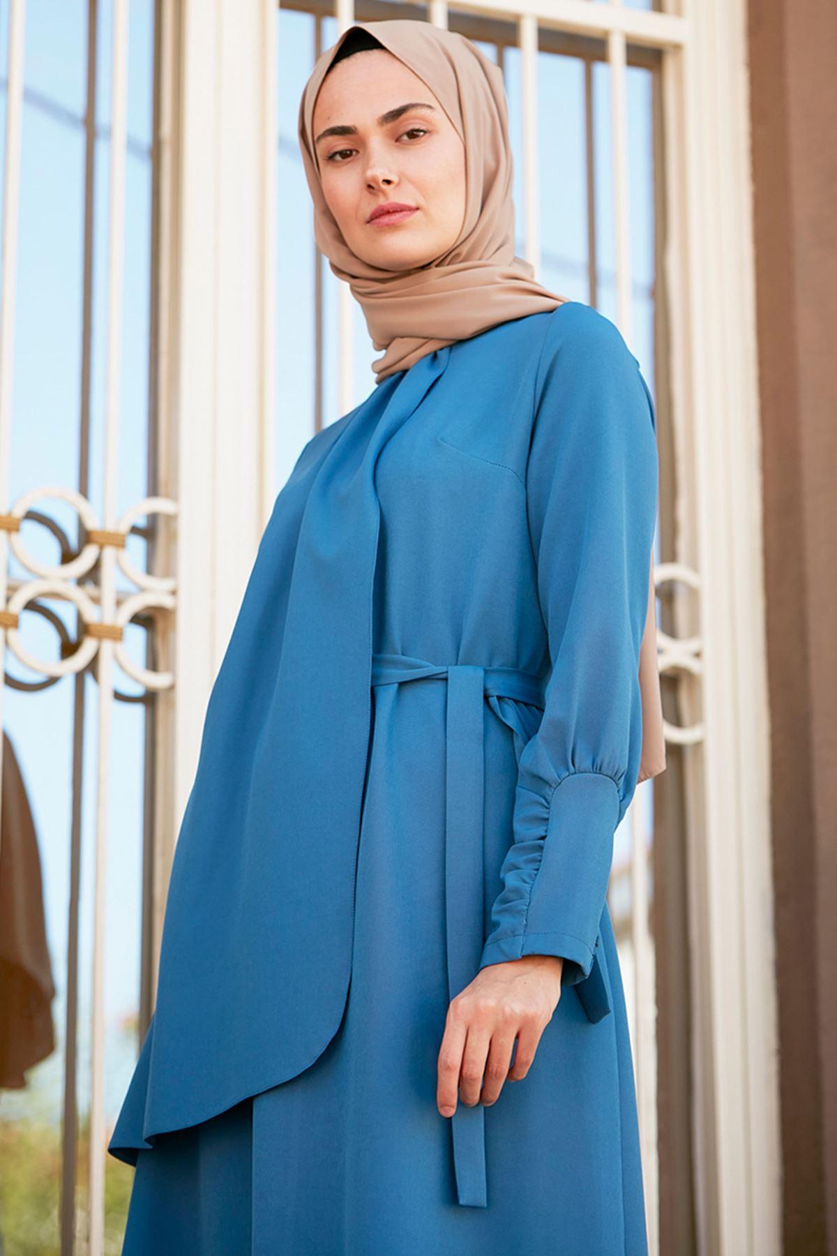 İvory Elbise İndigo