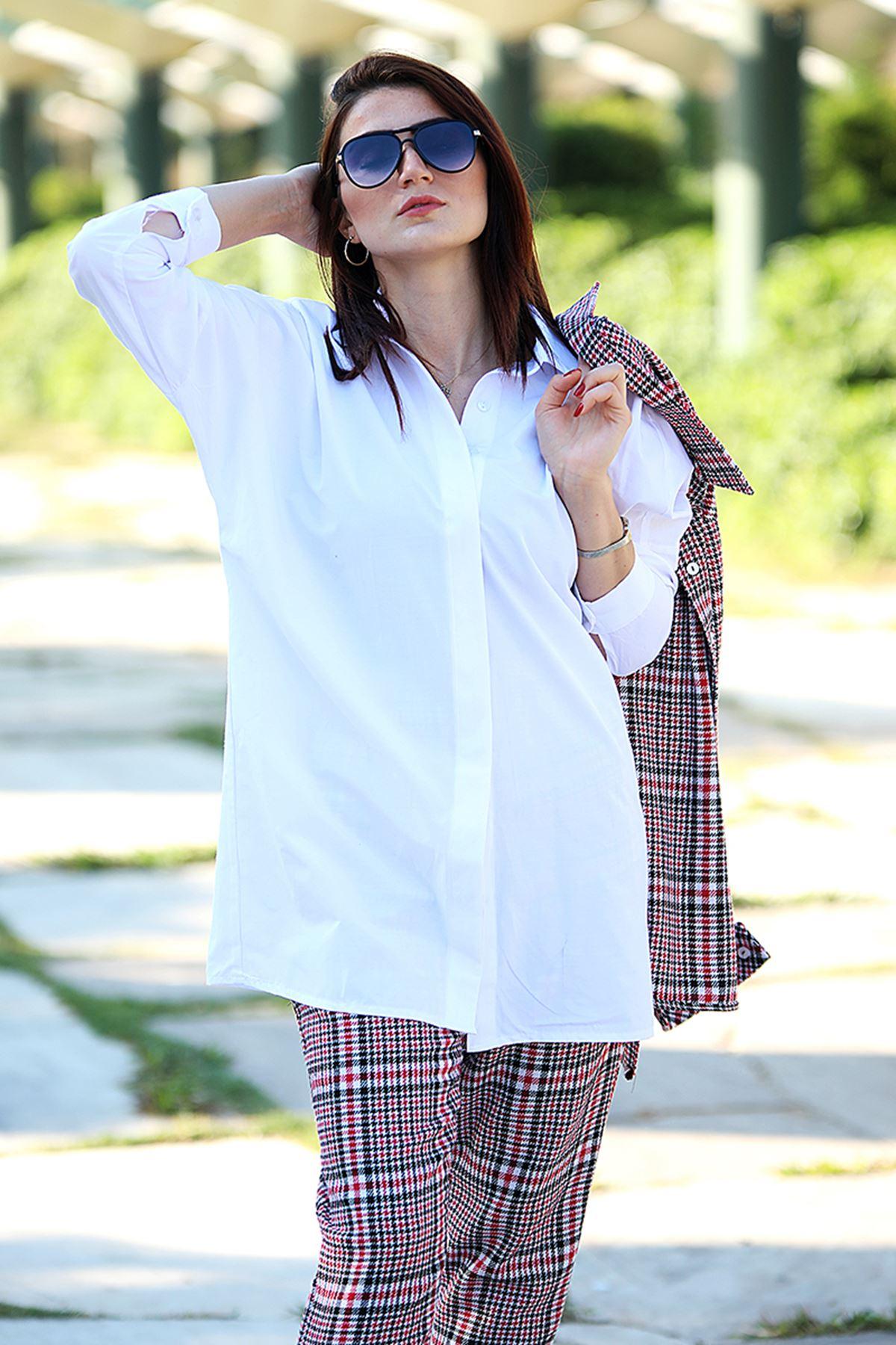 Poplin Gömlek Beyaz