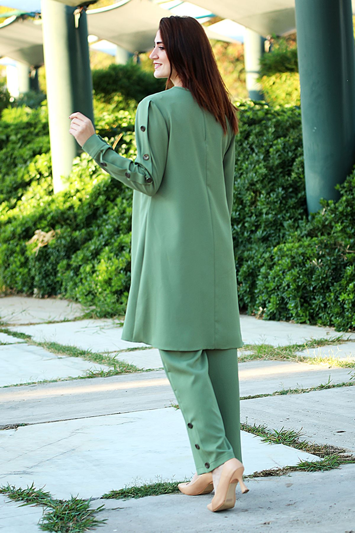 Lina Takım Mint Yeşili