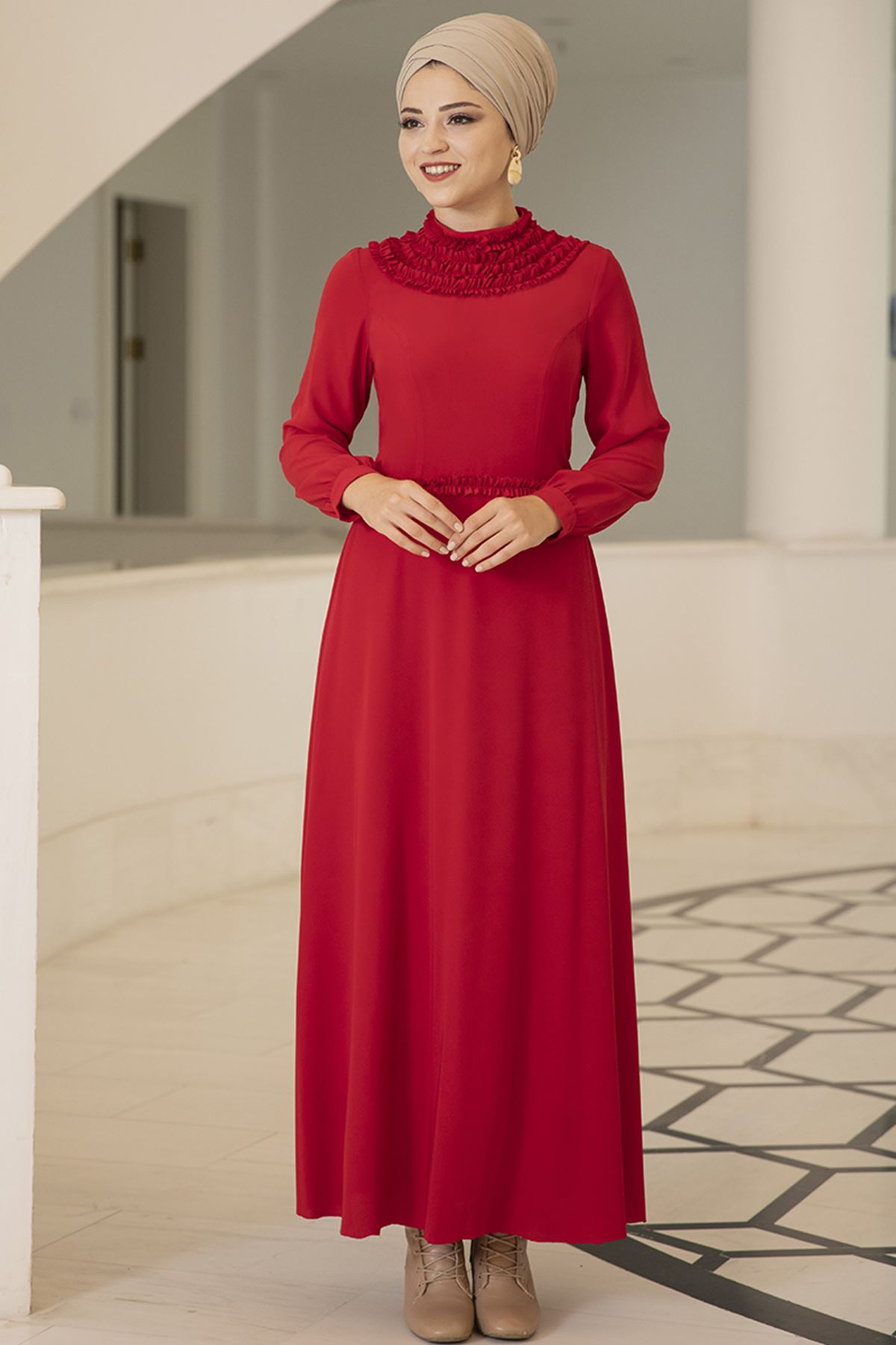 Eslem Elbise Kırmızı