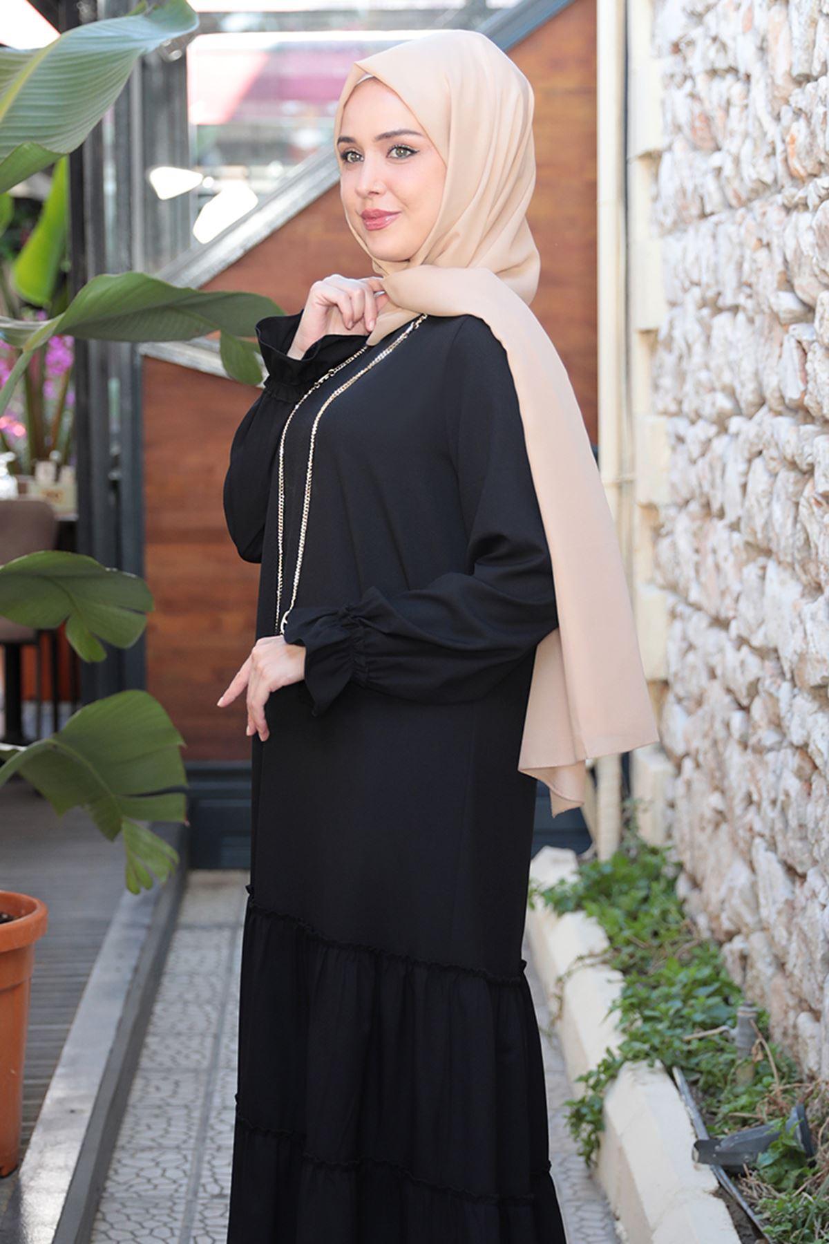 Kaktüs Elbise Siyah