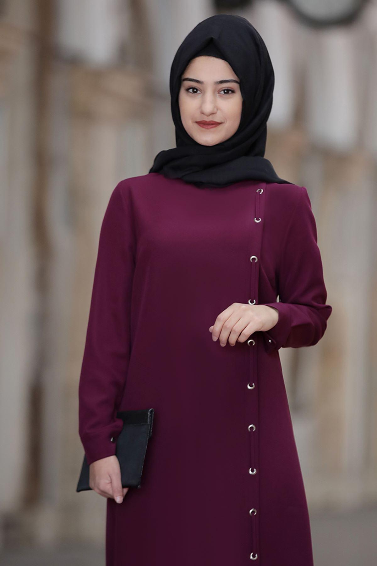 Rabeysa Rümeysa İkili Takım Mürdüm RAB8501
