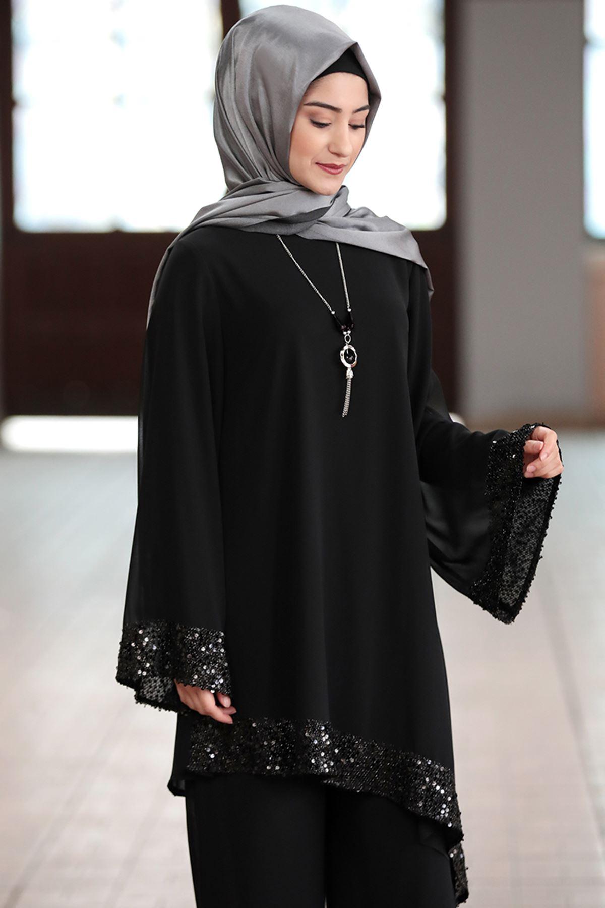 Rabeysa  Işıl İkili Takım Siyah RAB8505