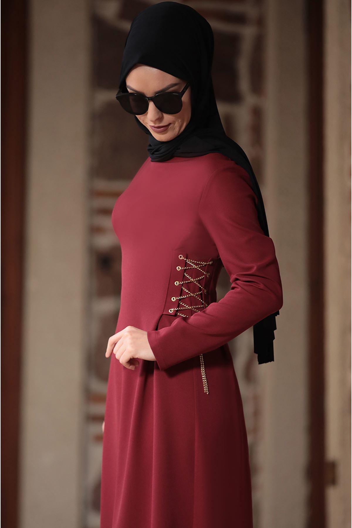 Ranazenn Beste Elbise Bordo RAN6907