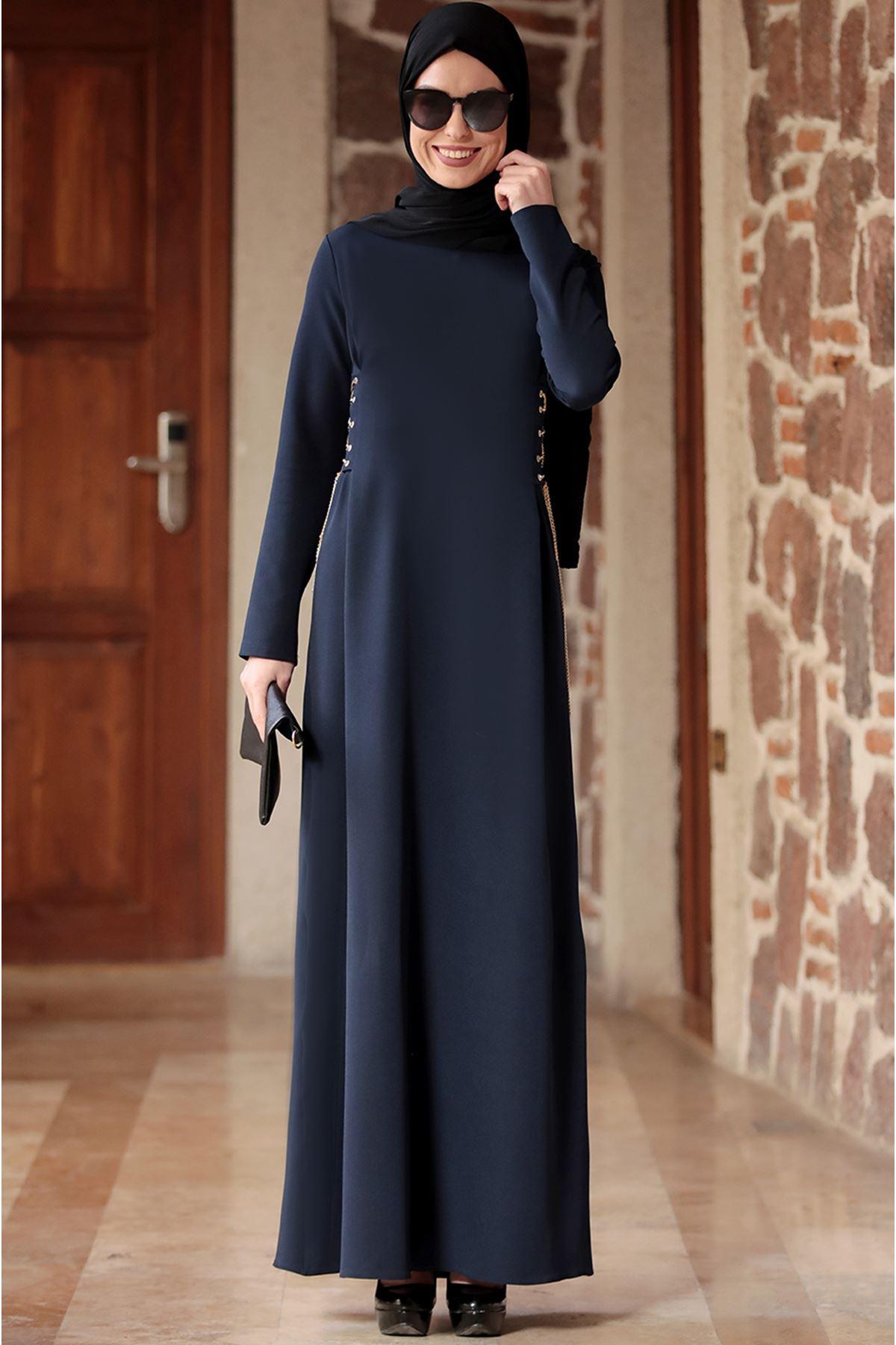 Ranazenn Beste Elbise Lacivert RAN6907