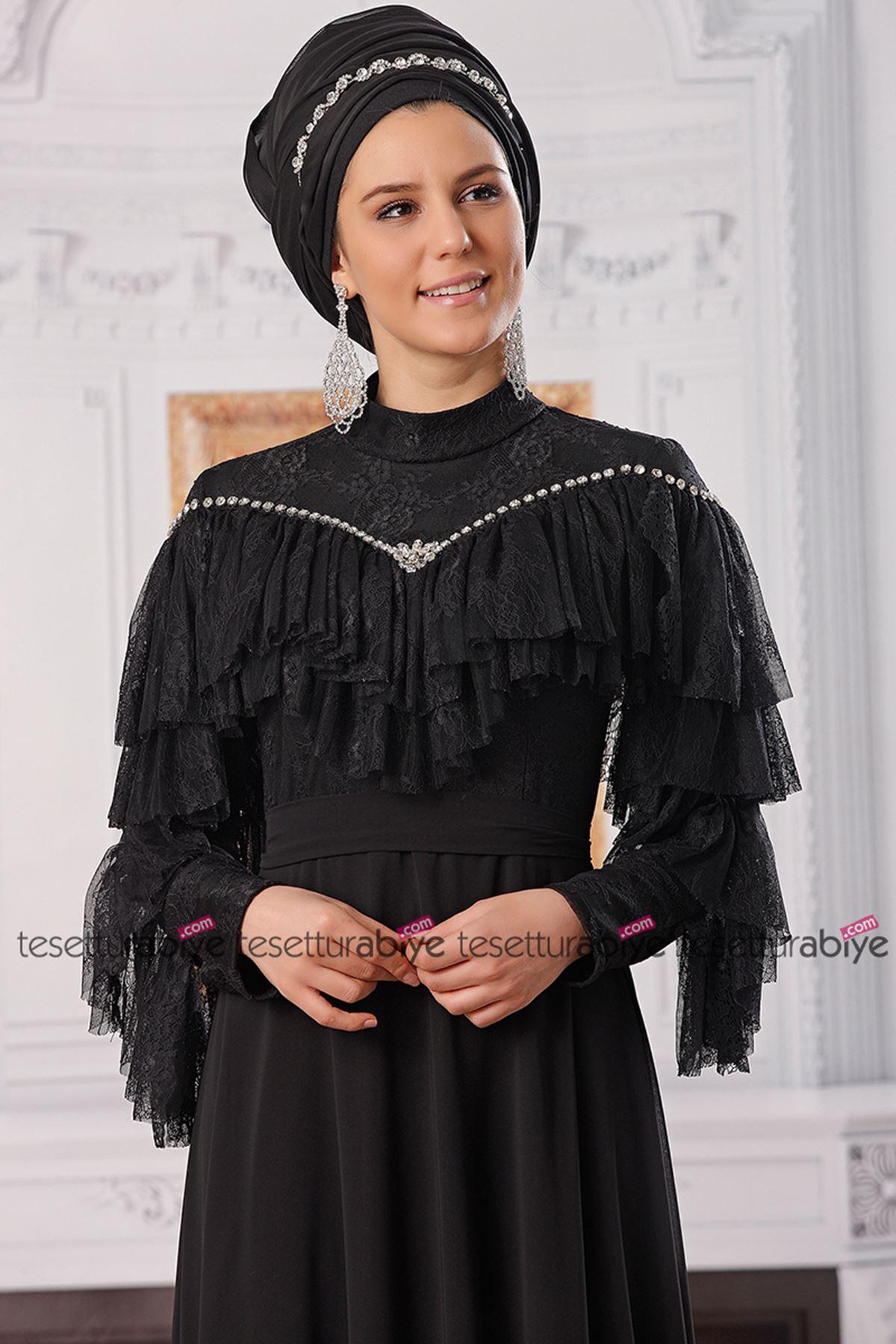 Fahrunnisa Damla Abiye Siyah FAH8002