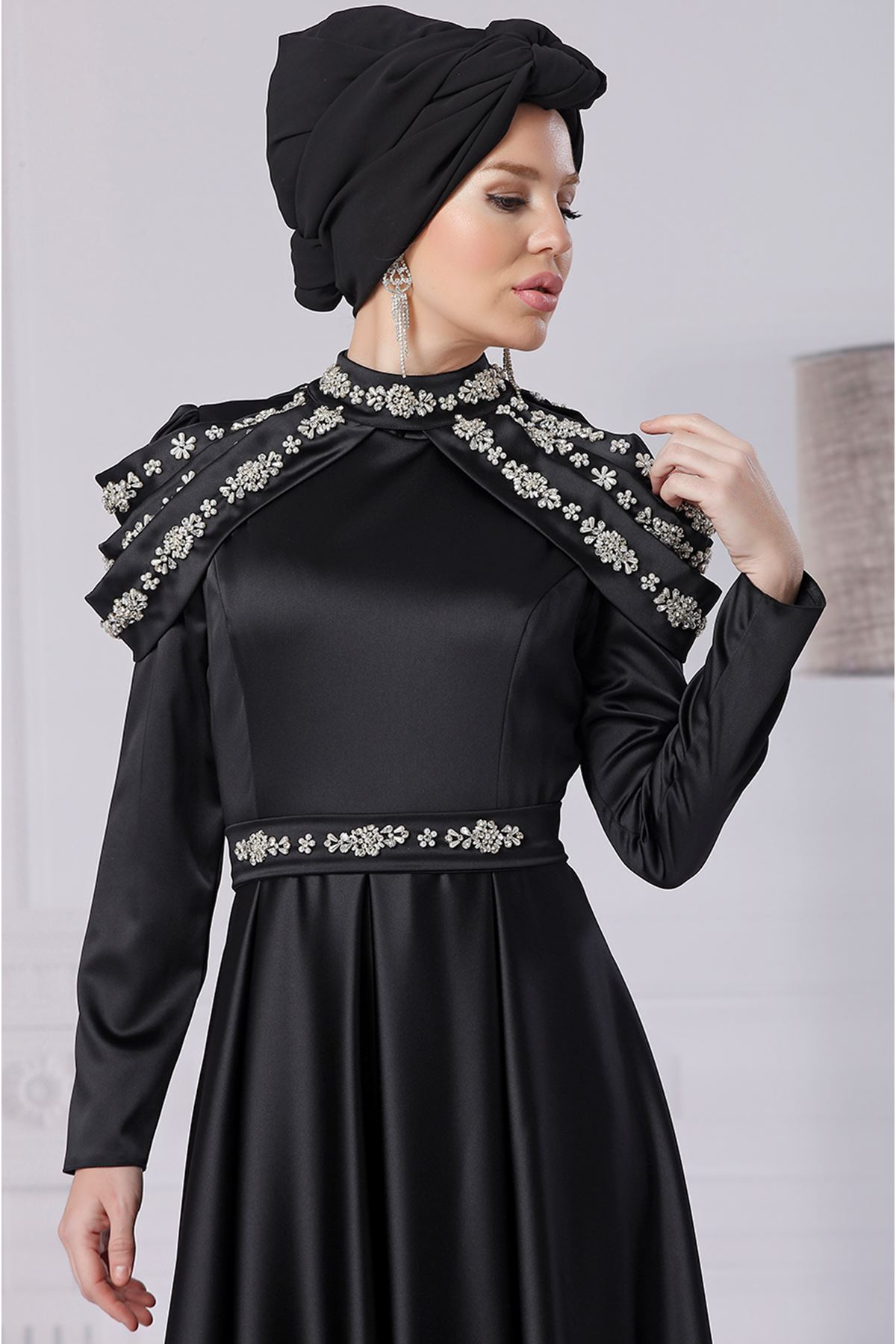 Fahrunnisa Afife Abiye Siyah FAH8001