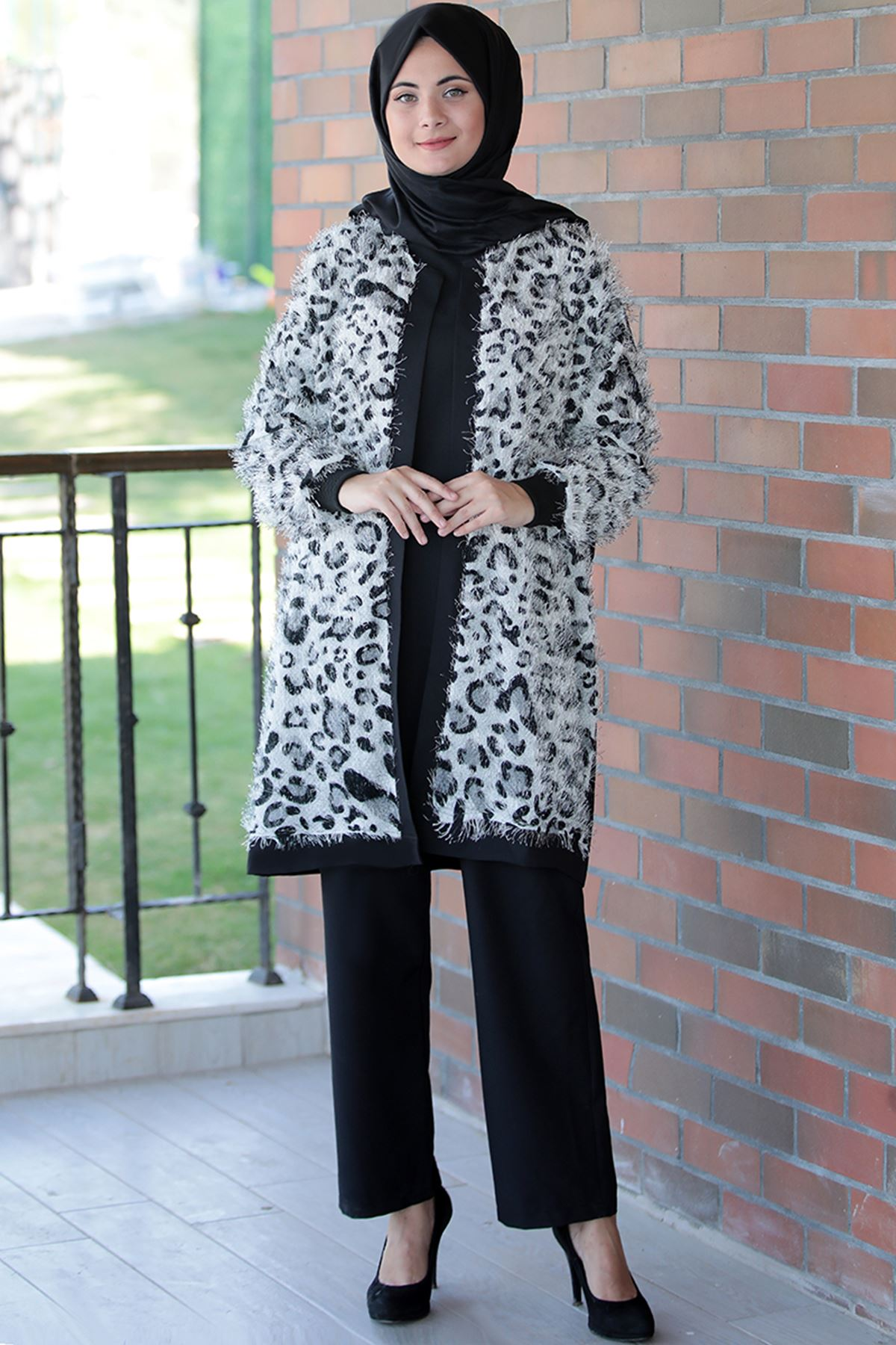 Sümay Şehrizade Ceket Siyah Beyaz SÜM5016