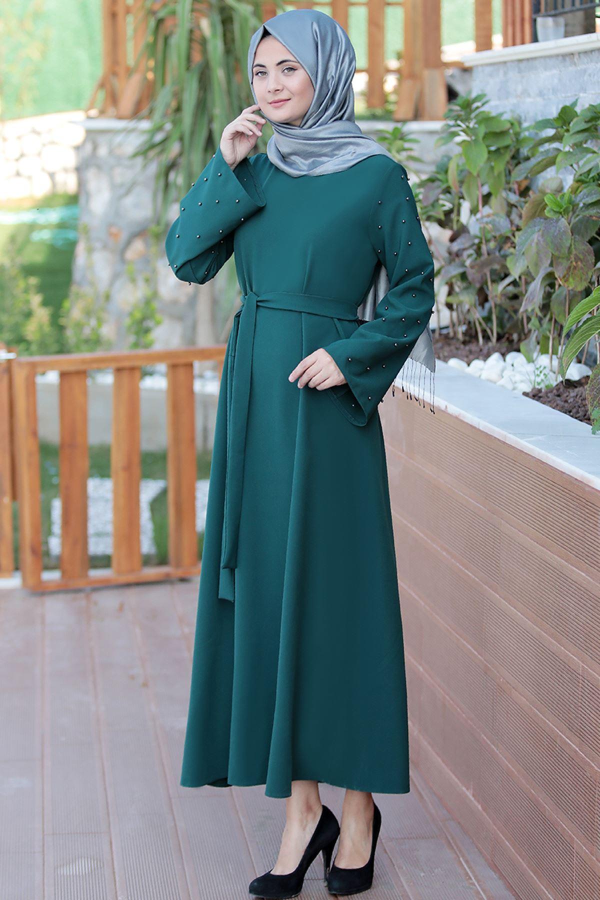 Sümay Hifa Elbise Yeşil SÜM5015