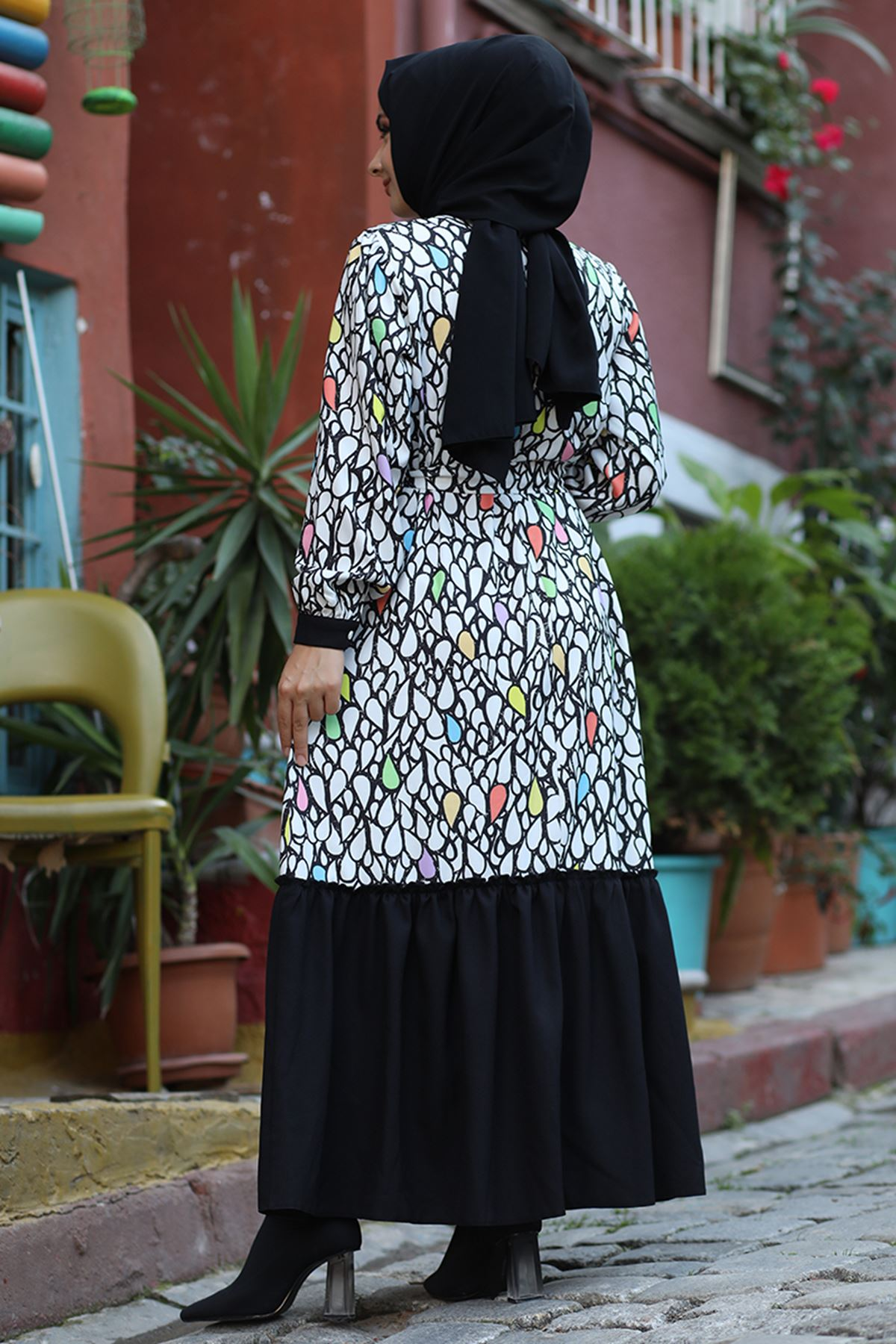 Hümeyra Arslan Damla Elbise Çok Renkli HÜM6306