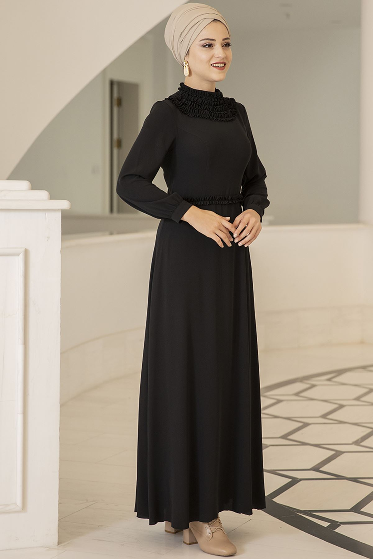 Dresslife Eslem Elbise Siyah DRE2010
