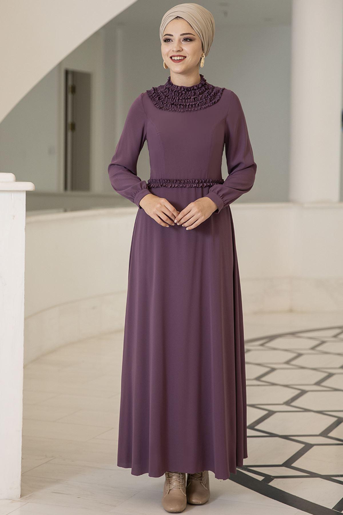Dresslife Eslem Elbise Mor DRE2010
