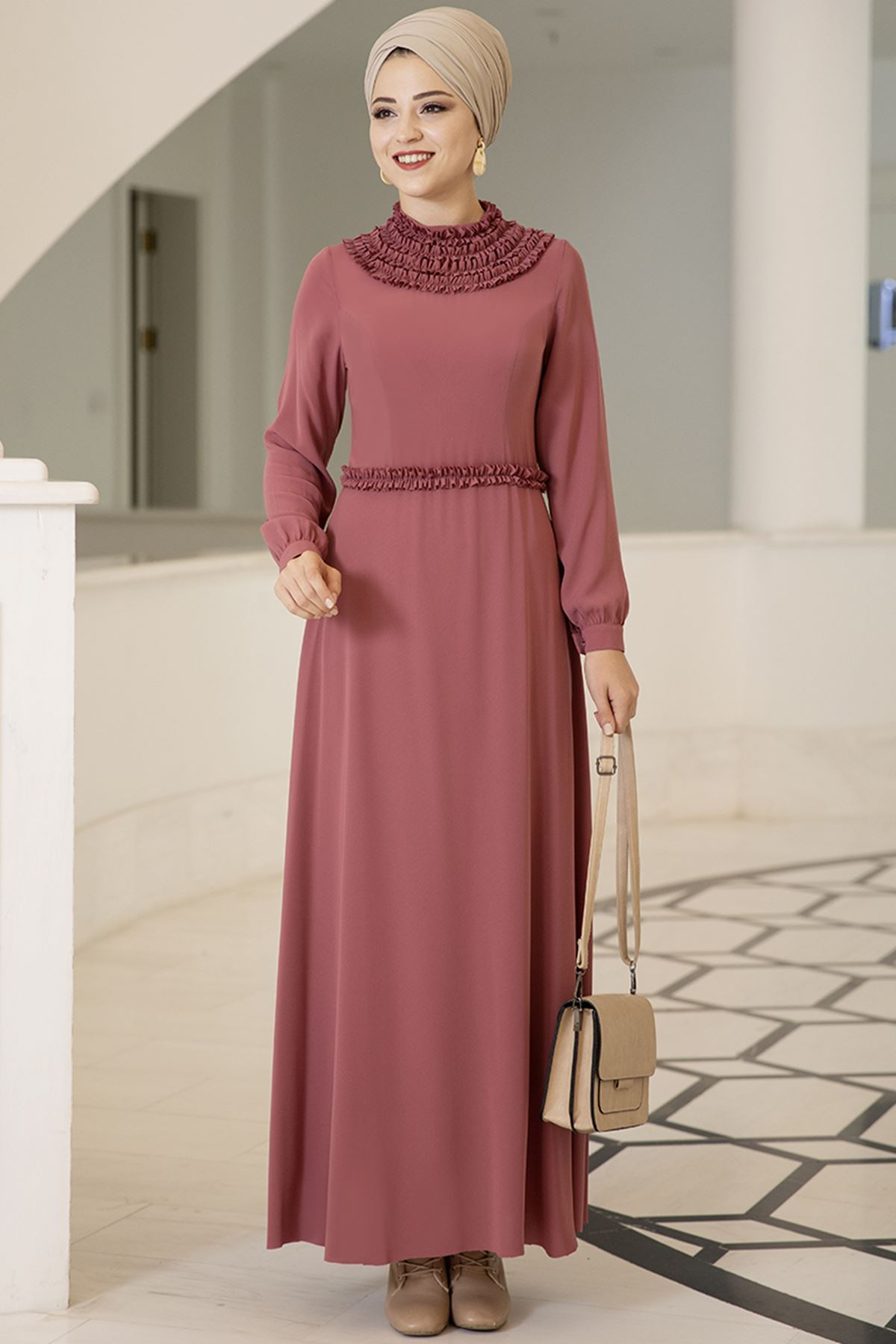 Dresslife Eslem Elbise Gül Kurusu DRE2010