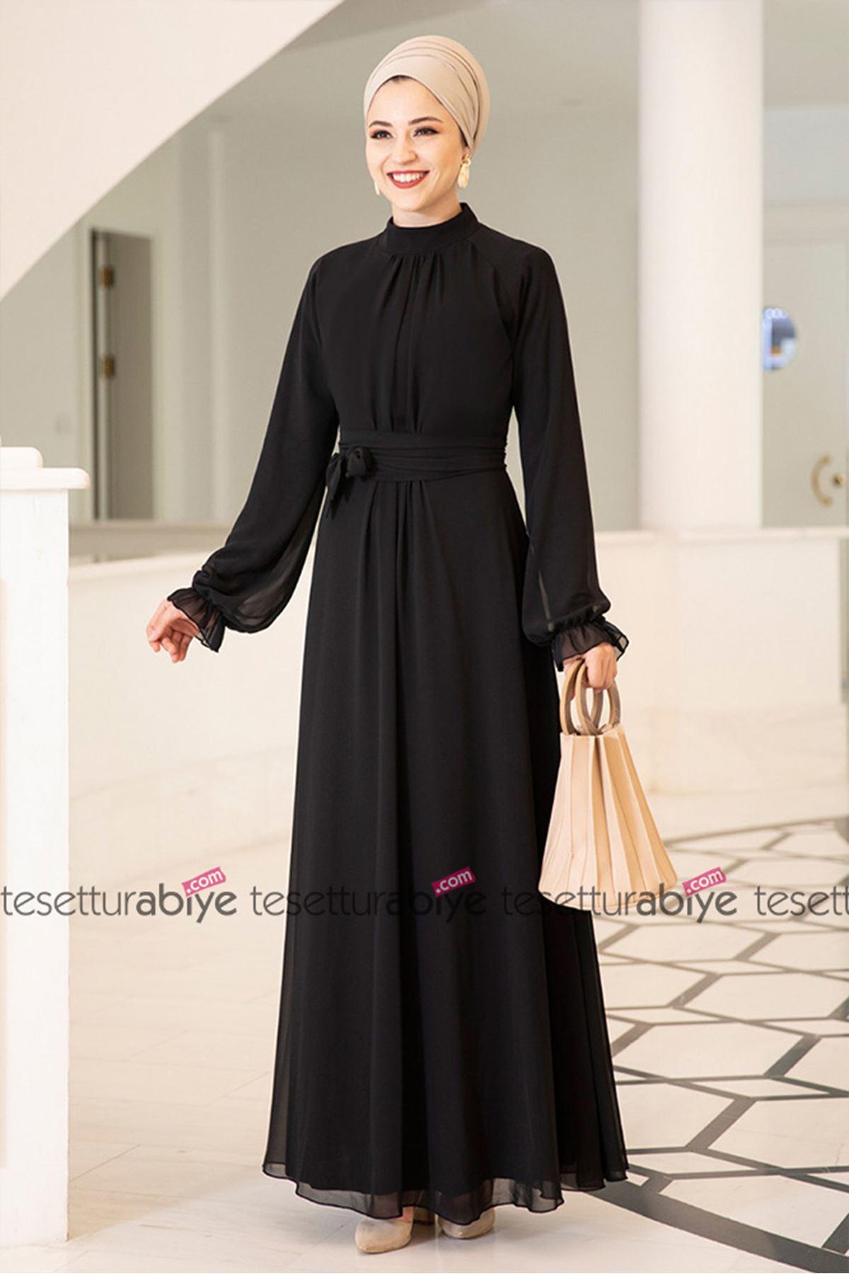 Dresslife Miraç Elbise Siyah DRE2007