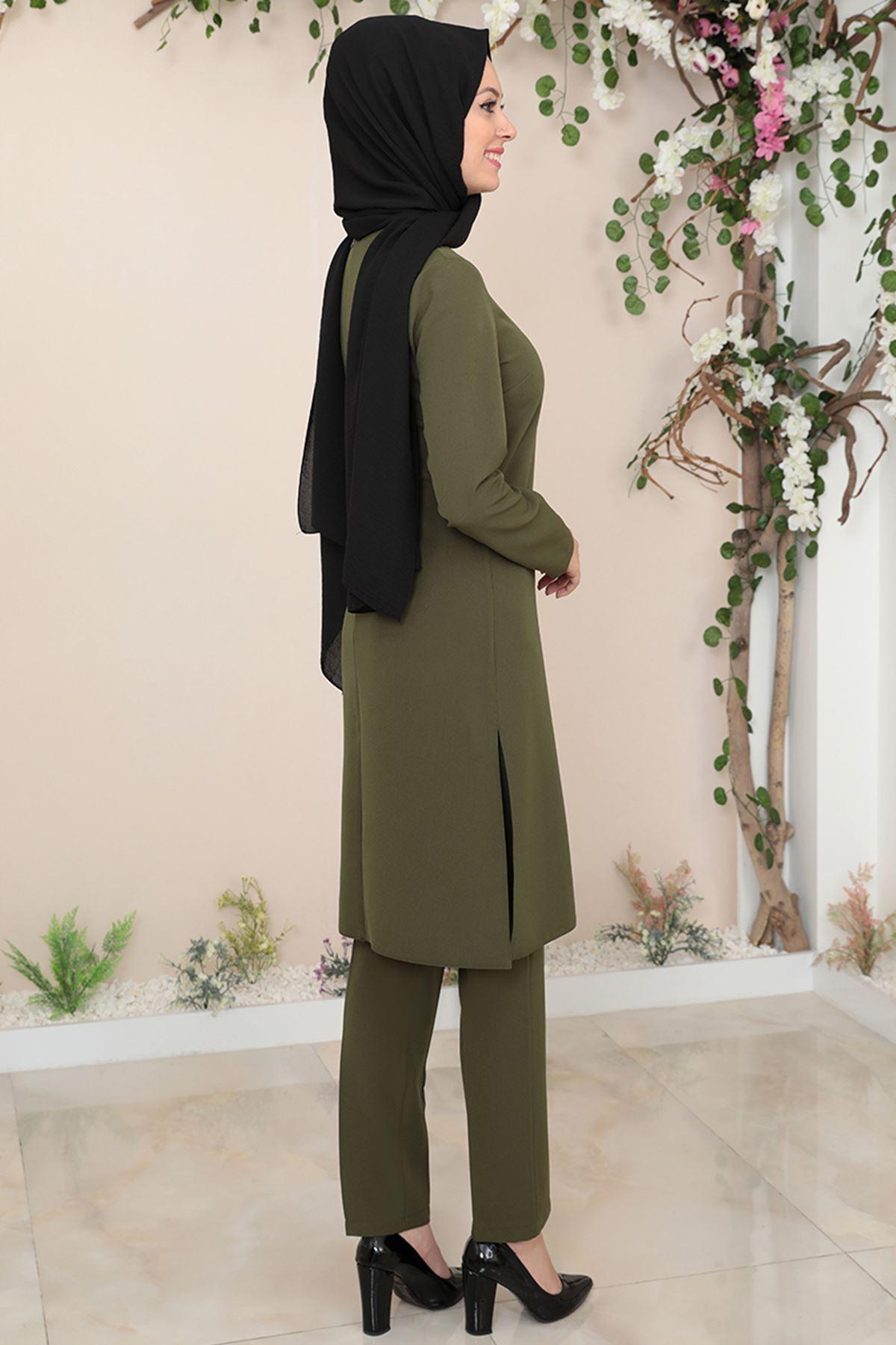 Semra Aydın Suna İkiili Takım Yeşil SMR4307