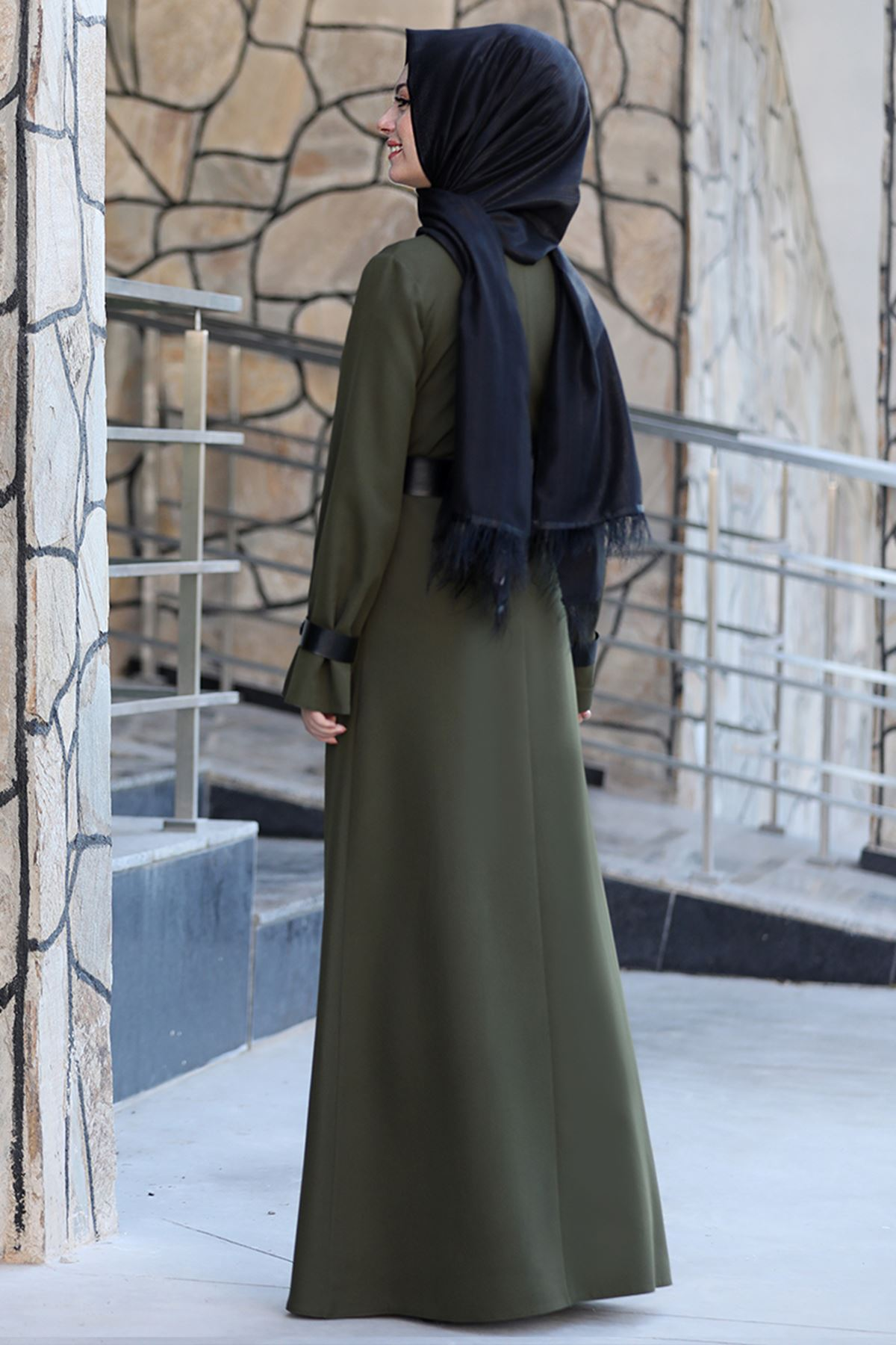 Semra Aydın Naz Elbise Haki SMR4303
