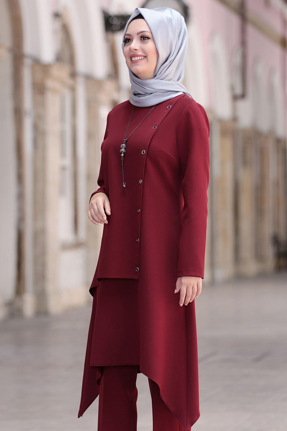Semra Aydın Büşra İkili Takım Bordo SMR4300