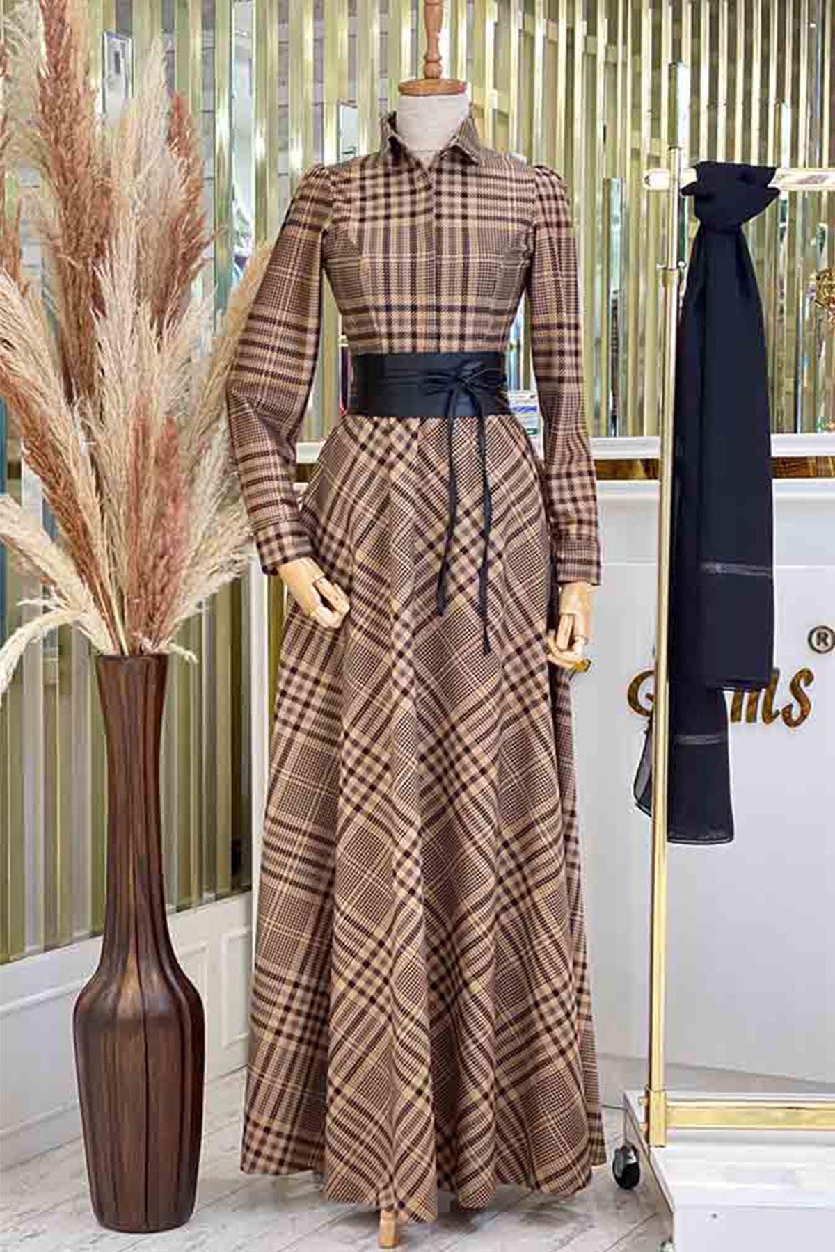 Pınar Şems Ekim Elbise Siyah PNR6127