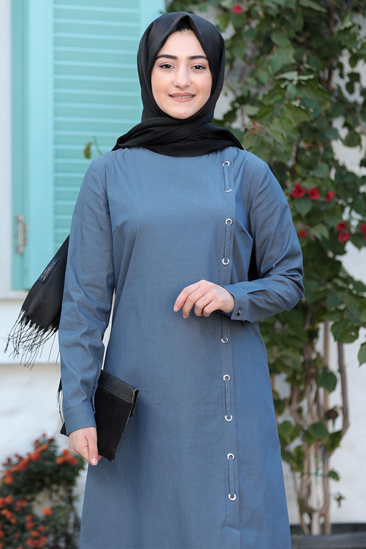 Rabeysa Rümeysa İkili Takım İndigo  RAB8501