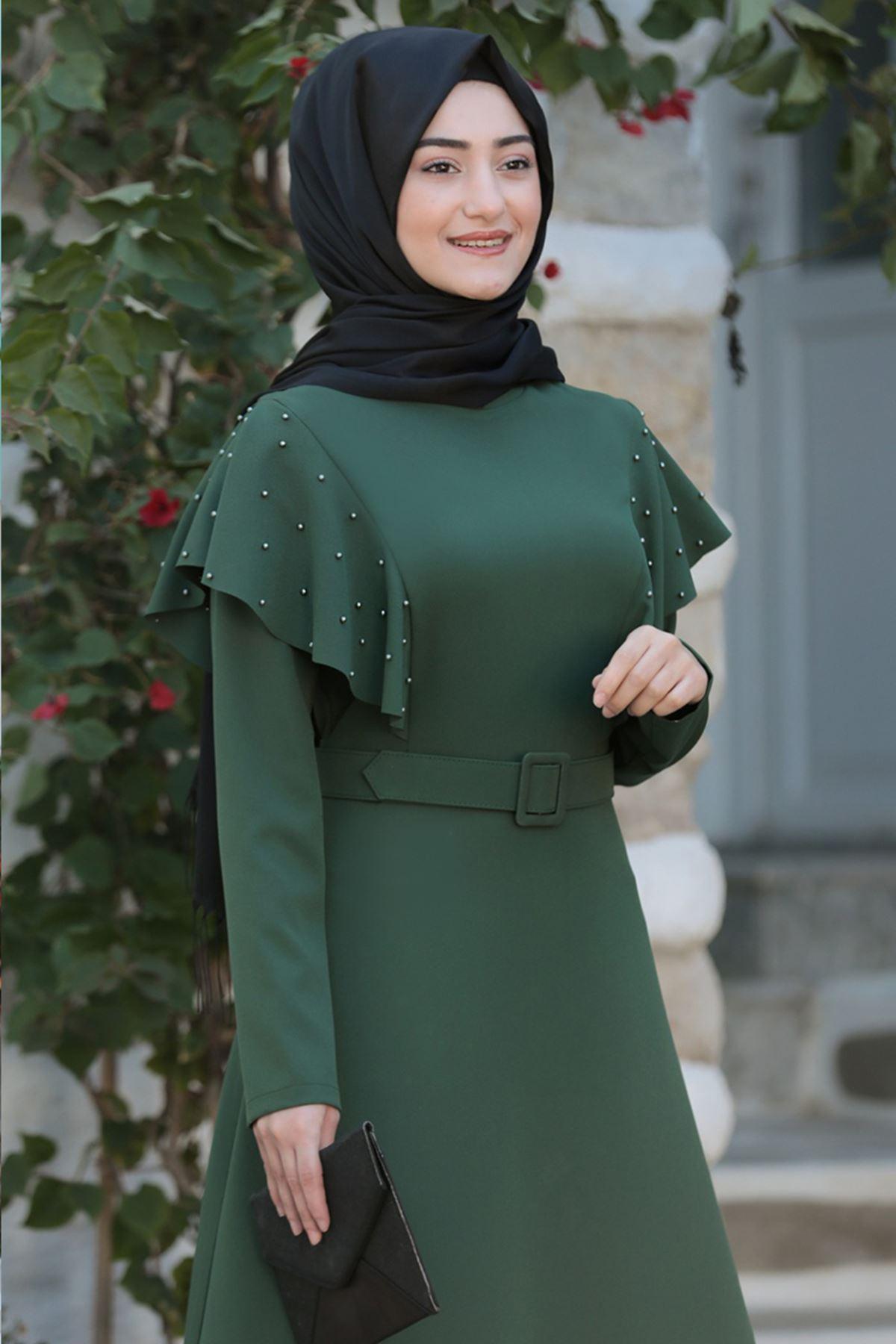 Rabeysa Damla Elbise Haki RAB8511