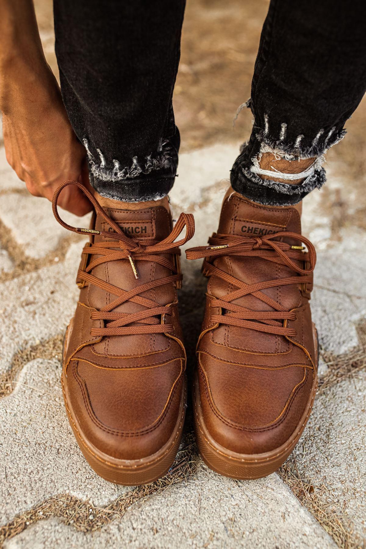 Chekich CH067 TBT Erkek Ayakkabı TABA