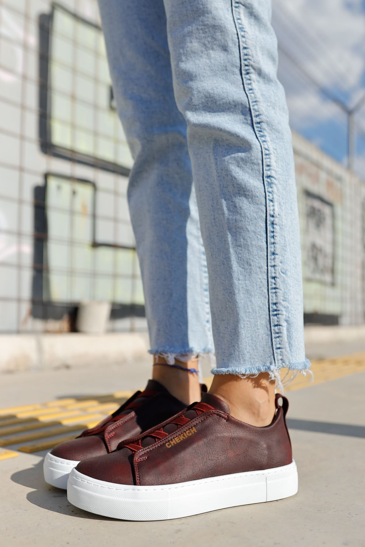 Chekich CH013 BT Kadın Ayakkabı BORDO