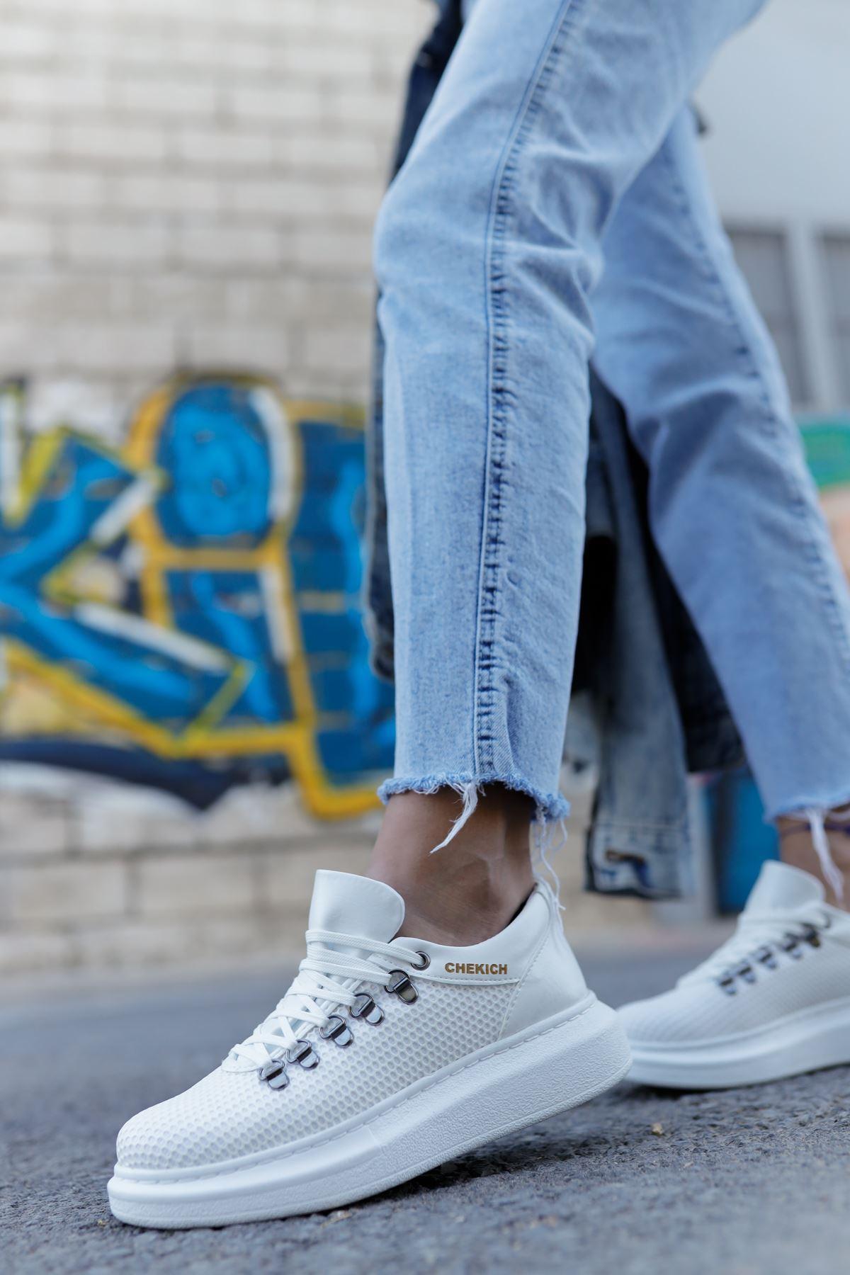 Chekich CH021 YBT Kadın Ayakkabı BEYAZ