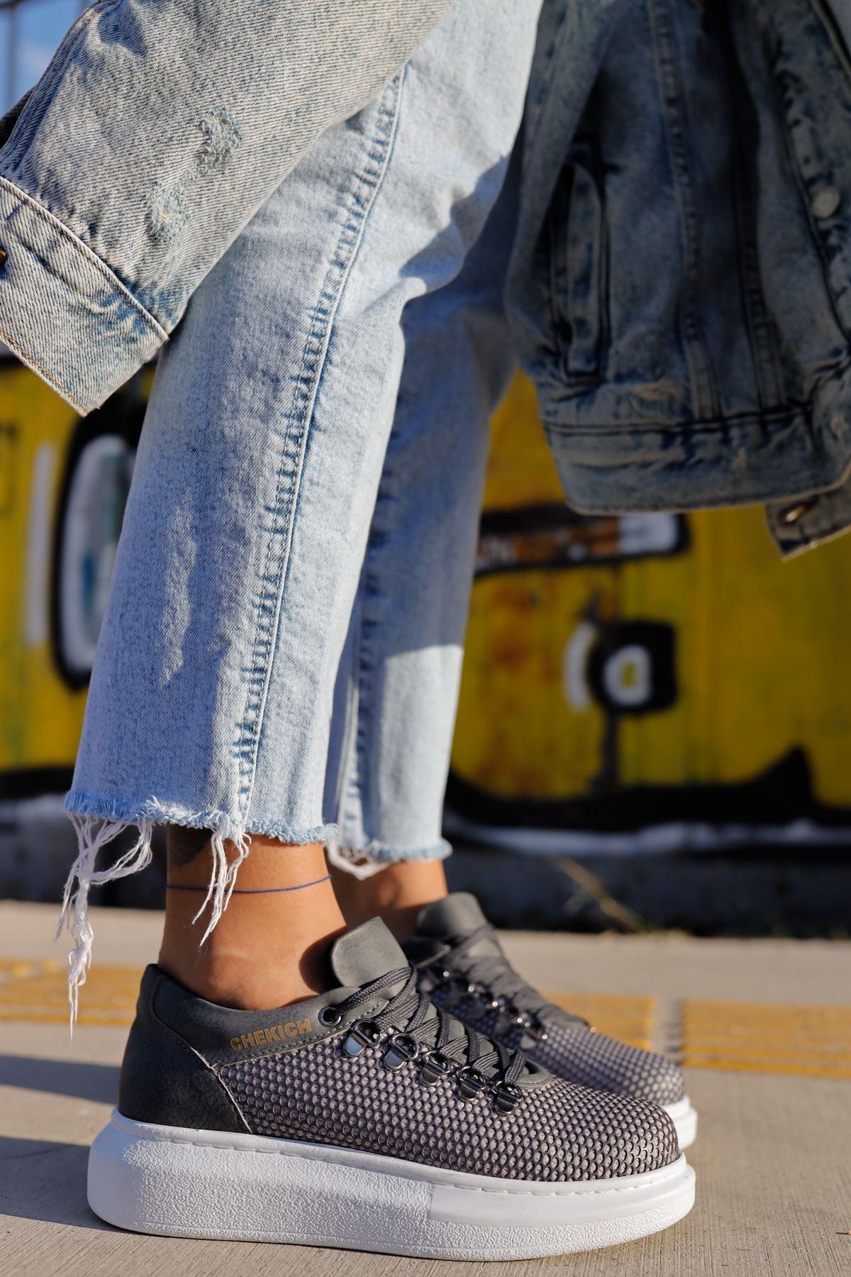 Chekich CH021 YBT Kadın Ayakkabı ANTRASİT