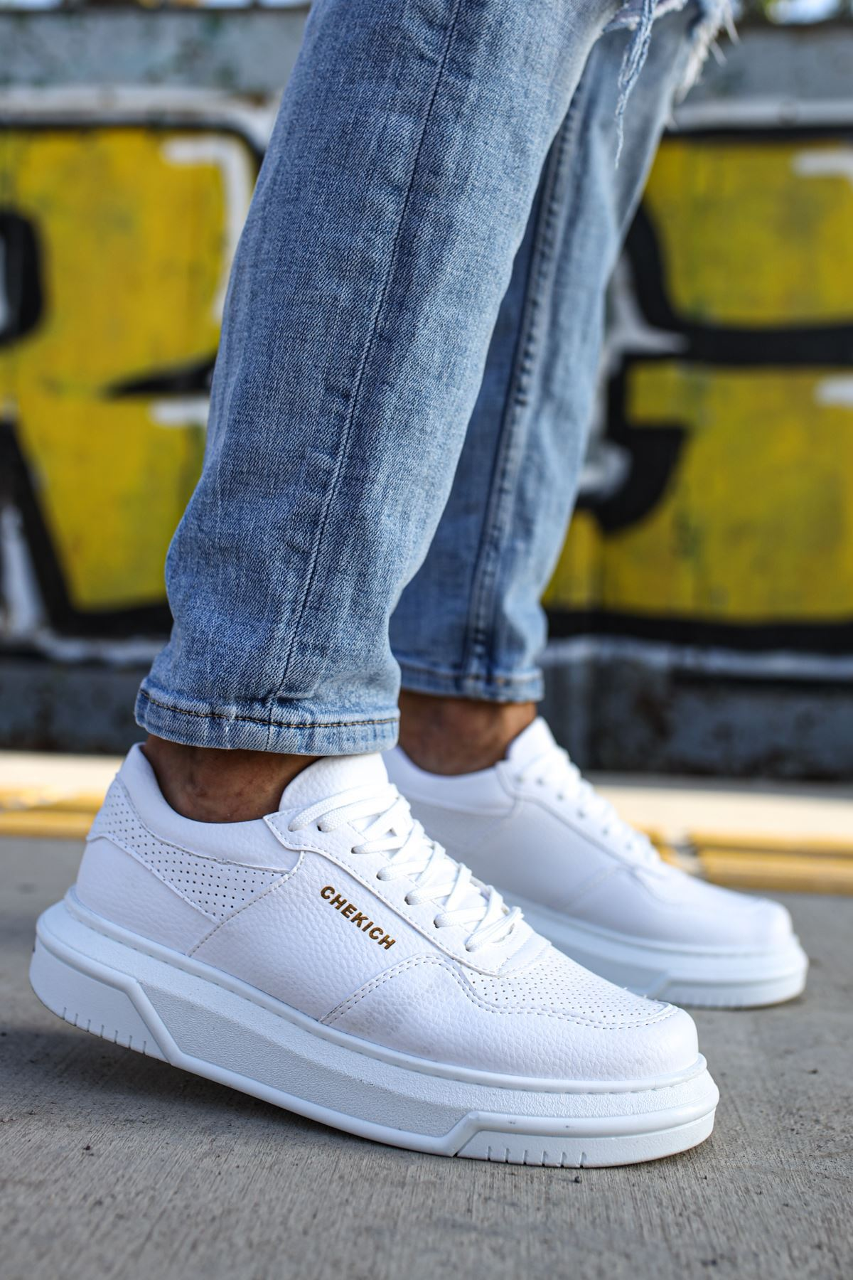 Chekich CH075 İpekyol Beyaz Taban Erkek Ayakkabı BEYAZ