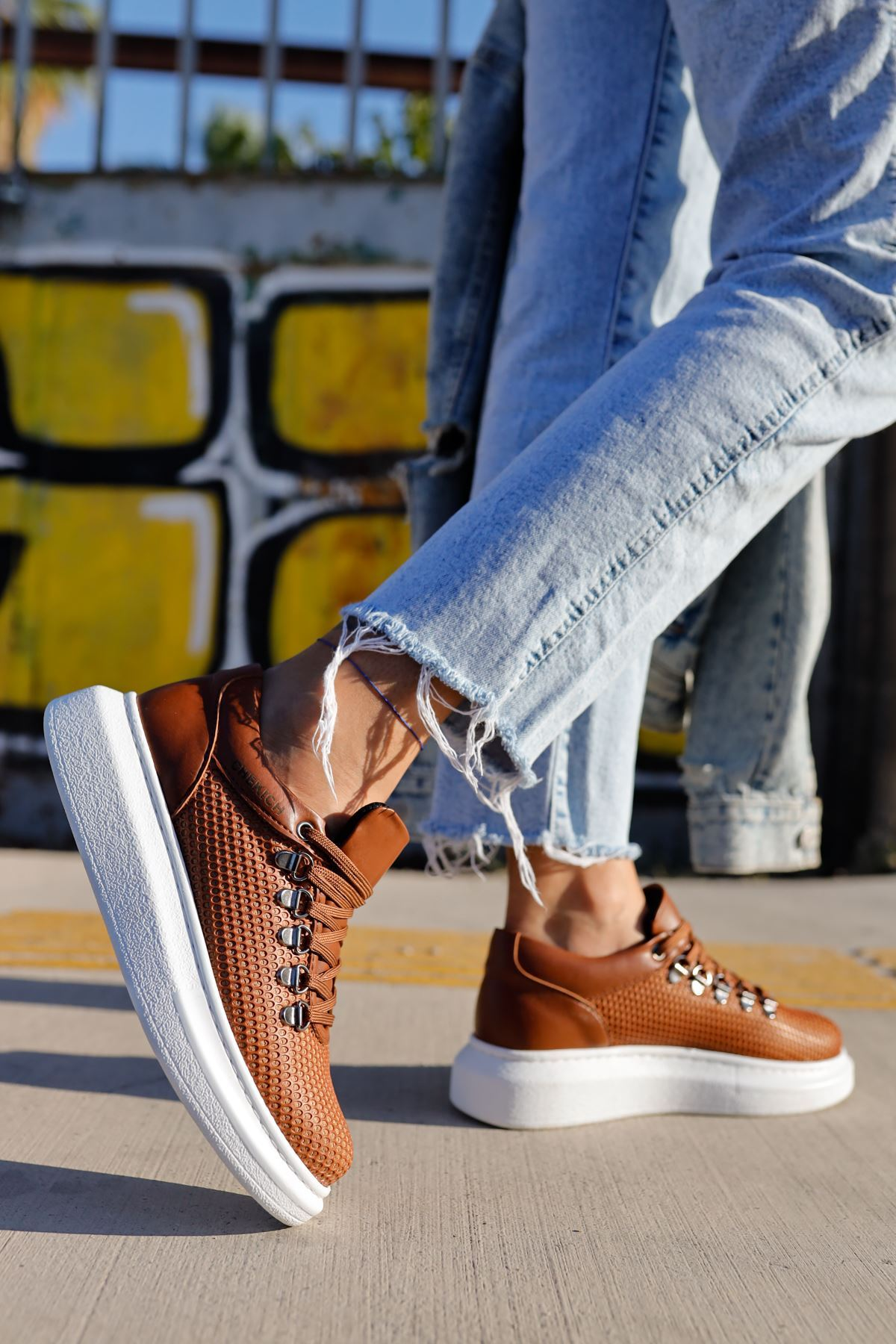 Chekich CH021 YBT Kadın Ayakkabı TABA