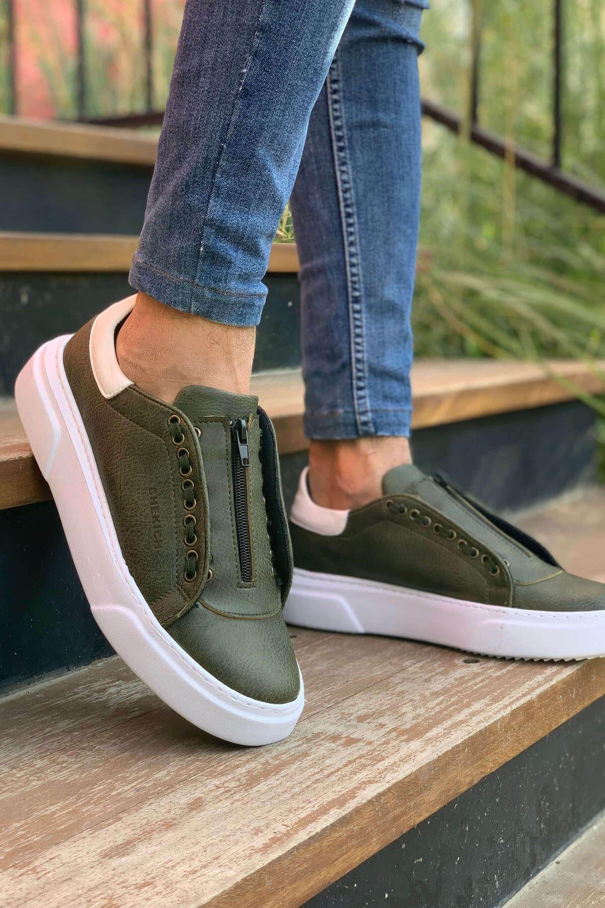 Chekich CH092 GBT Erkek Ayakkabı HAKİ / BEYAZ