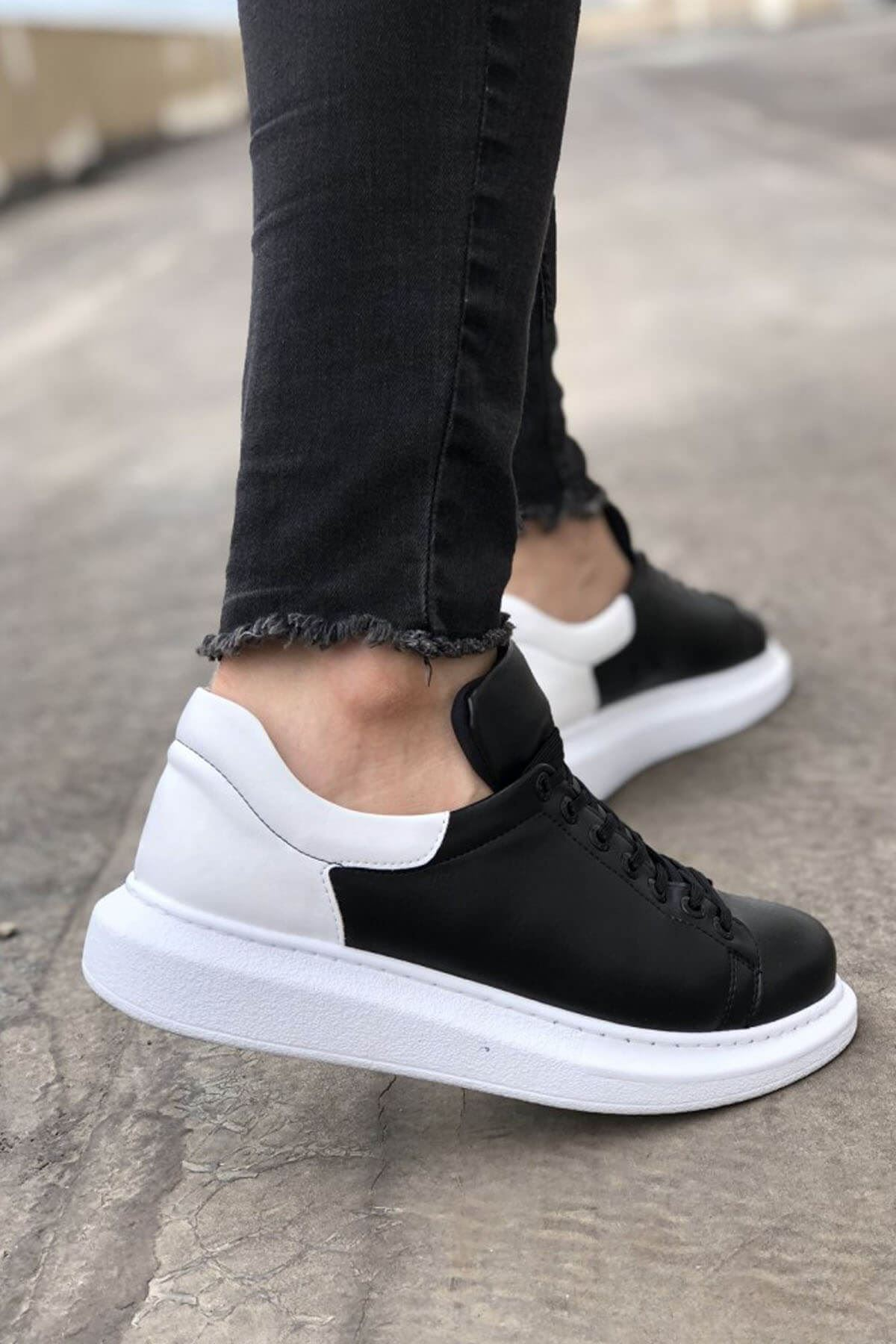 Chekich CH256 BT  Erkek Ayakkabı SİYAH / BEYAZ