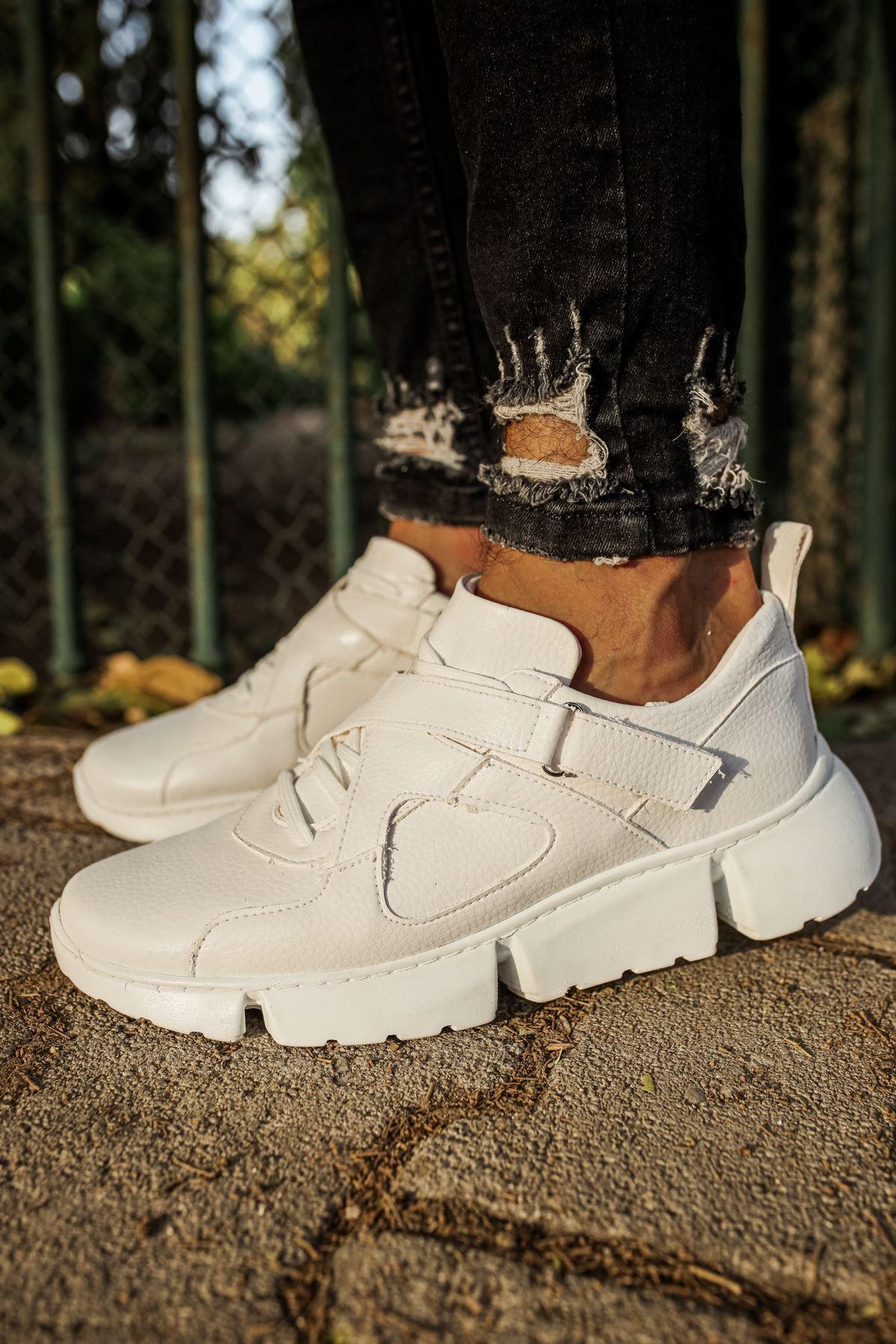 Chekich CH071 BT Erkek Ayakkabı BEYAZ