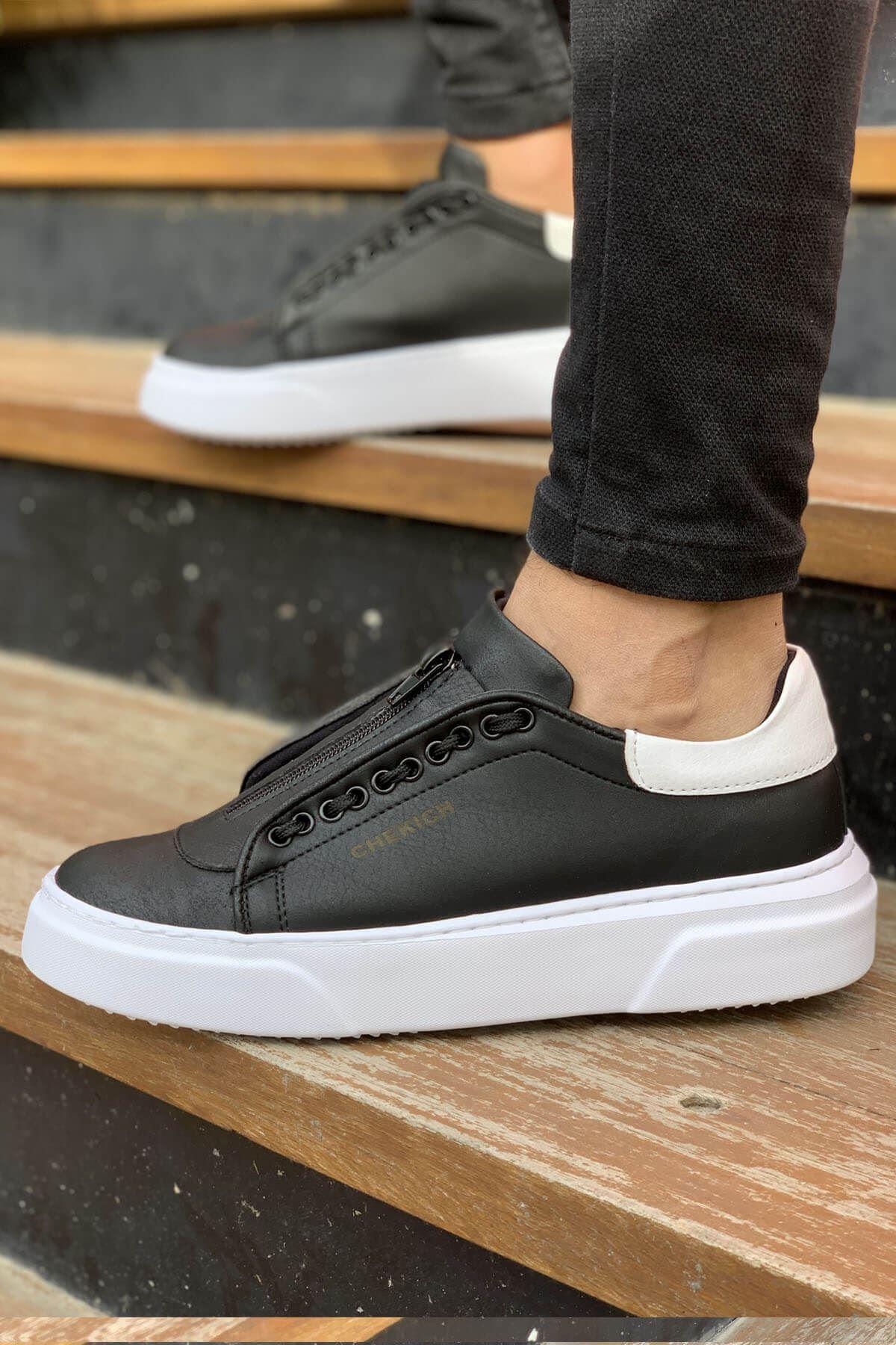 Chekich CH092 GBT Erkek Ayakkabı SİYAH / BEYAZ
