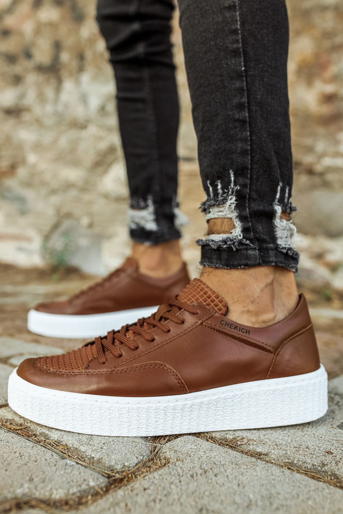 Chekich CH017 BT Erkek Ayakkabı TABA