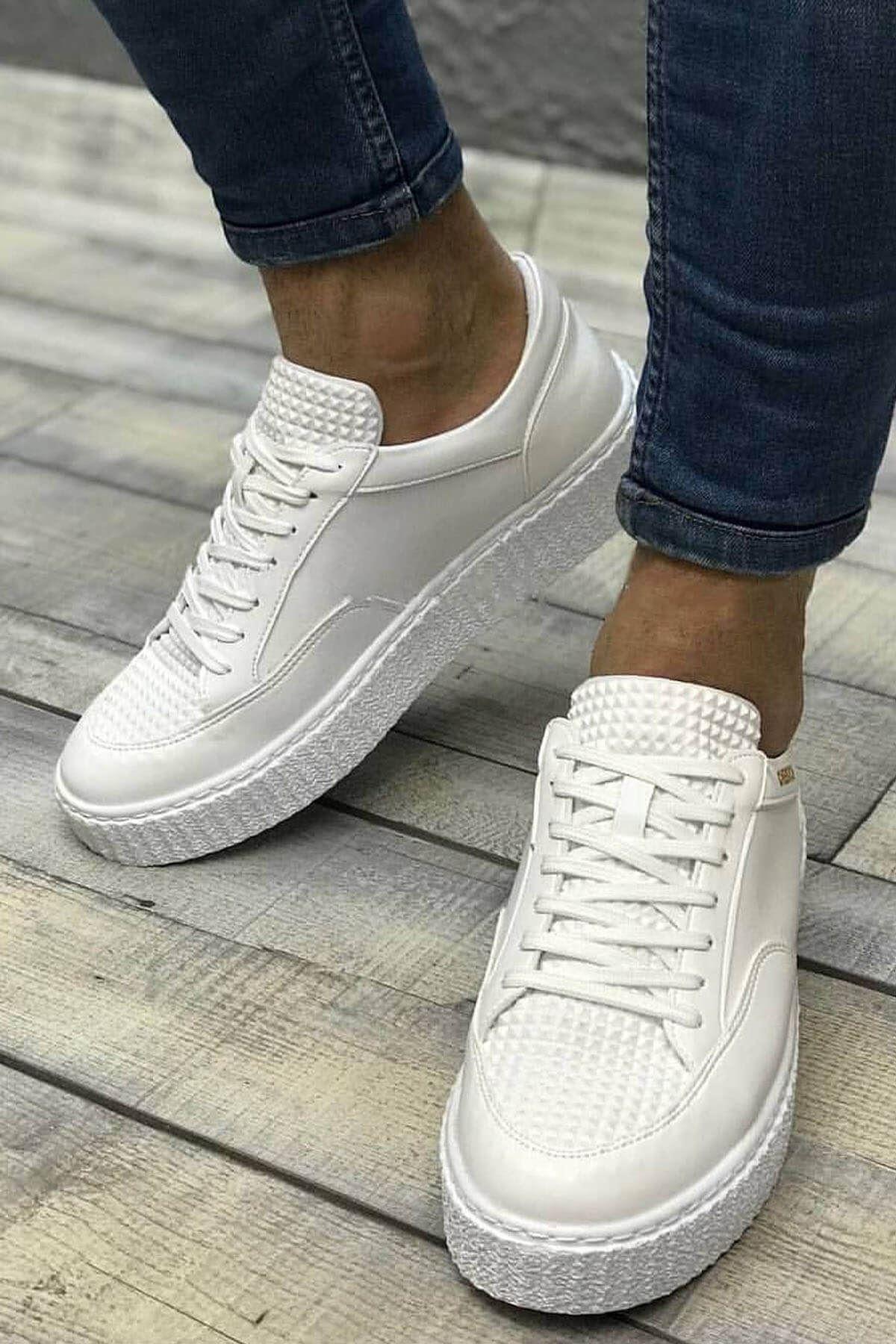 Chekich CH017 BT Erkek Ayakkabı BEYAZ