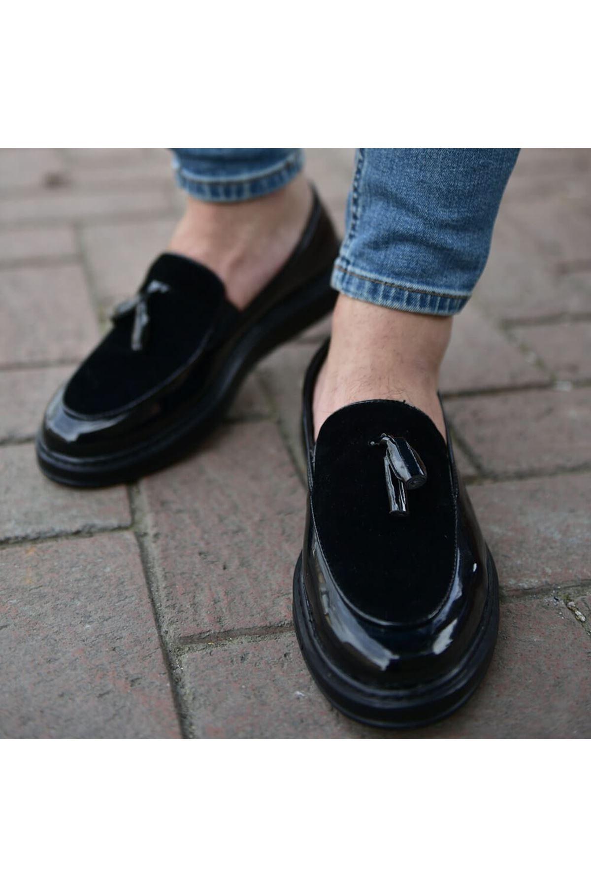 Chekich CH002 Rugan ST Erkek Ayakkabı SIYAH