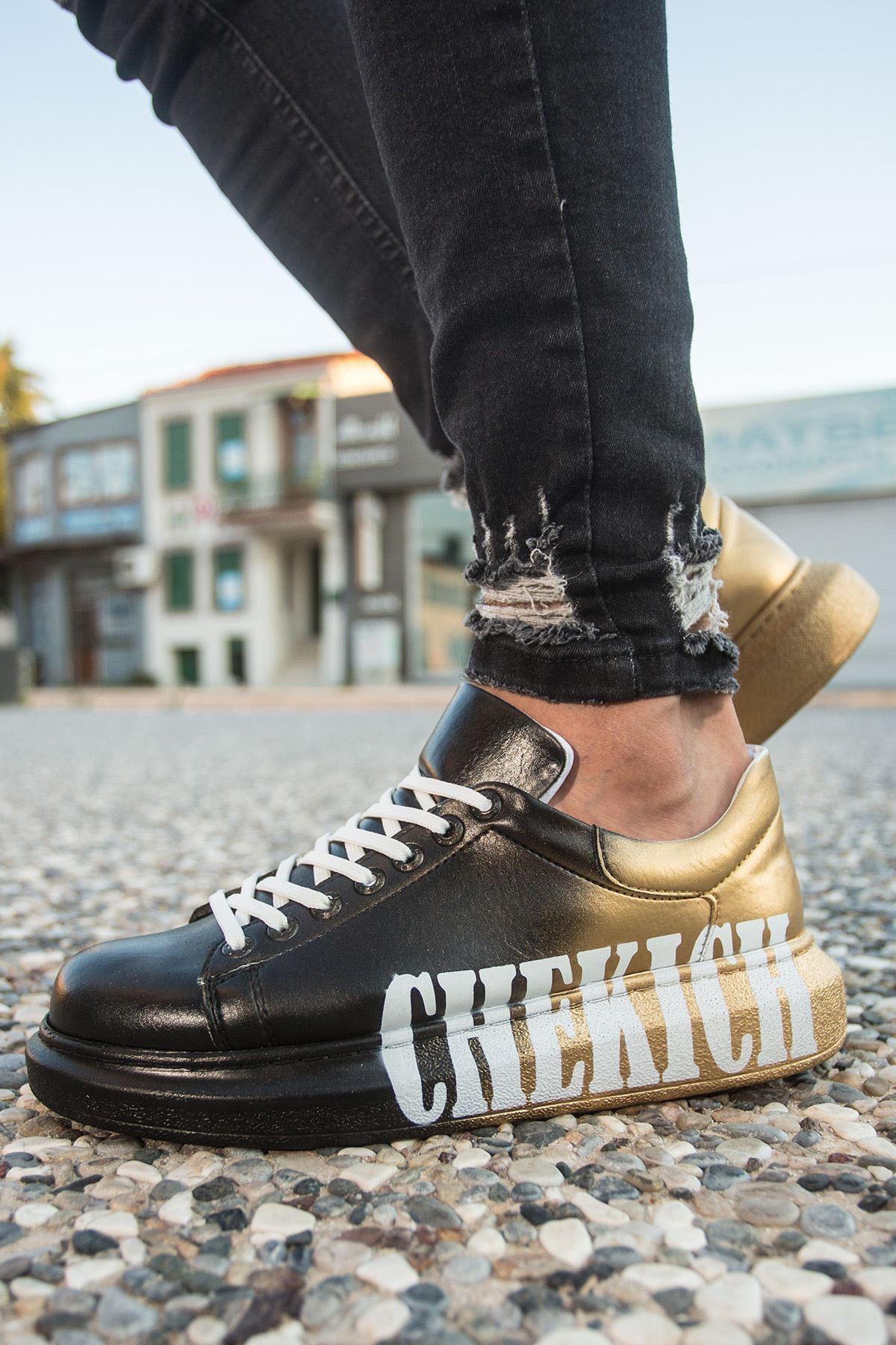 Chekich CH254 BT Erkek Ayakkabı 438 SİYAH / SARI CHEKICH