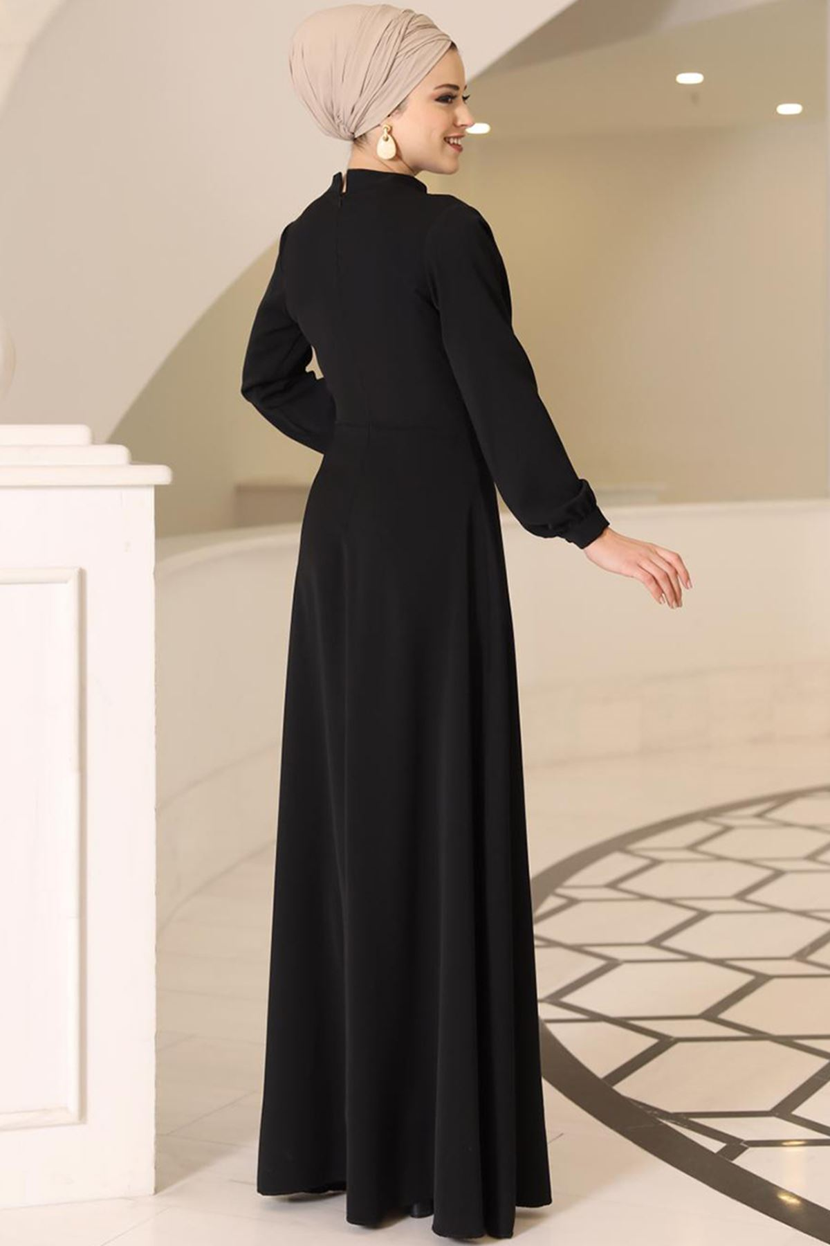 DressLife Ahsen Elbise Siyah DRE2020